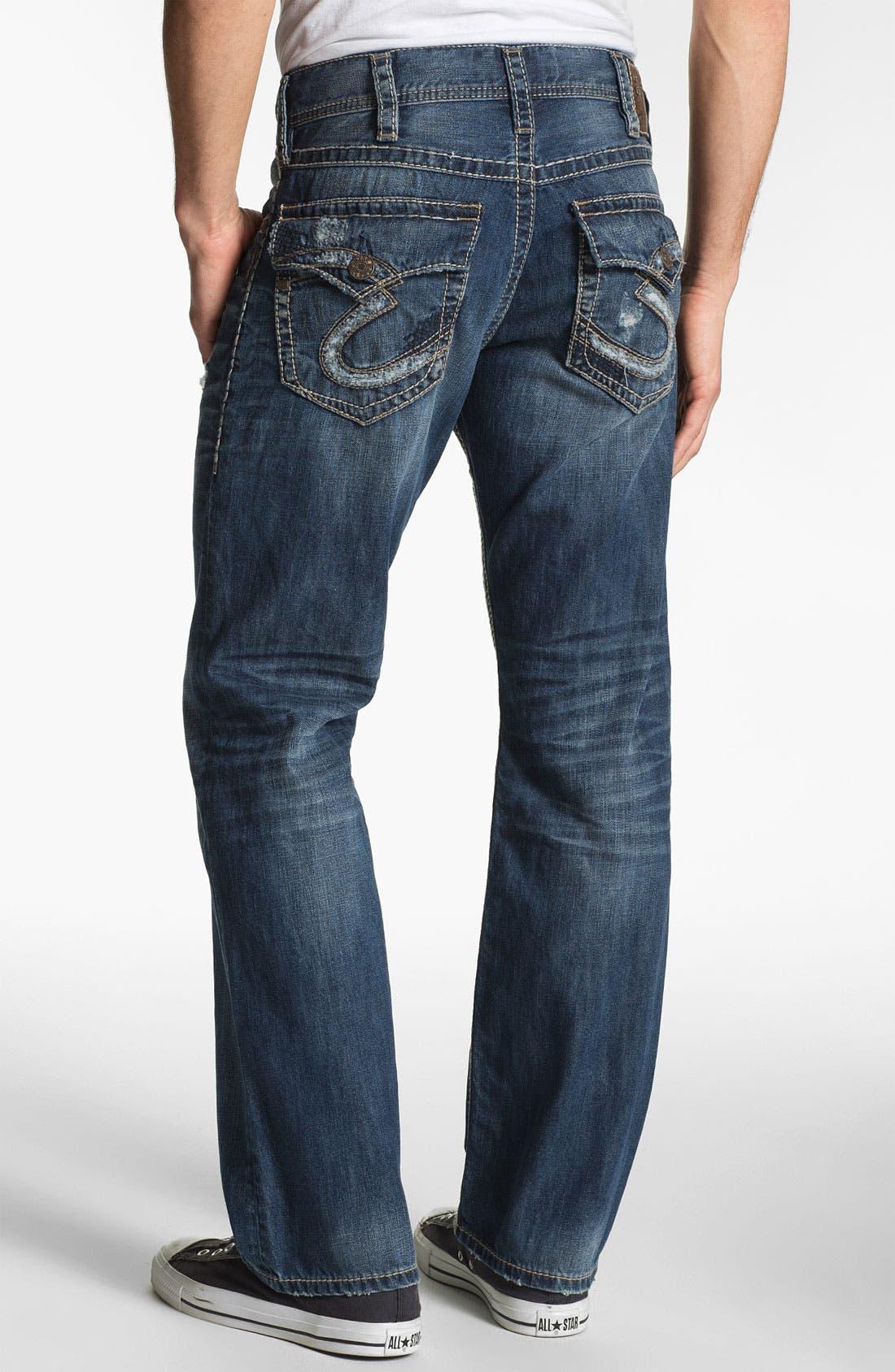 Main Image - Silver Jeans Co. 'Zac' Straight Leg Jeans (Indigo)