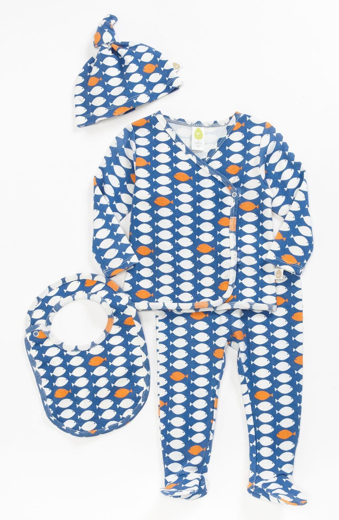 Alternate Image 1 Selected - Stem Baby Organic Cotton Shirt, Pants, Hat & Bib (Baby Boys)