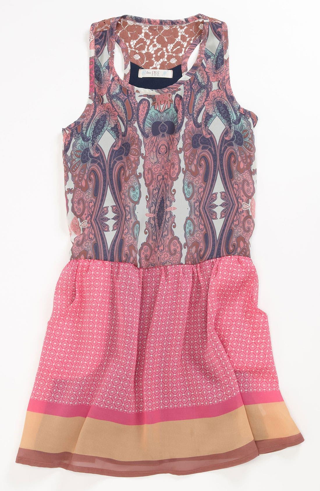 Main Image - Fire Paisley Dress (Big Girls)