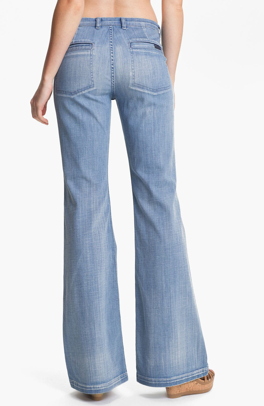 Alternate Image 2  - 7 For All Mankind® 'Georgia' Wide Leg Stretch Jeans (Authentic Light)
