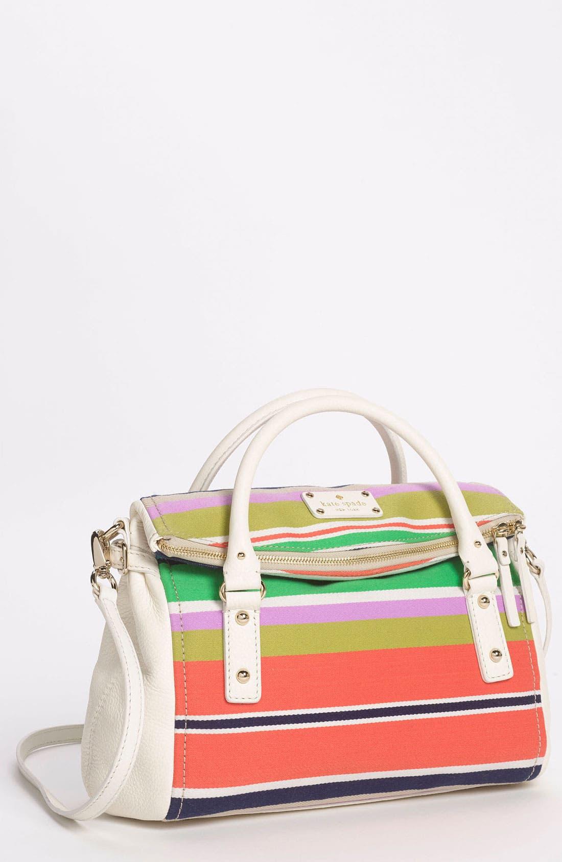 Main Image - kate spade new york 'cobble hill stripe - small leslie' satchel