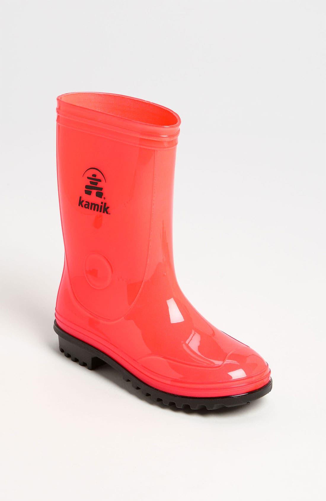 Alternate Image 1 Selected - Kamik 'Sunshower' Rain Boot (Toddler & Little Kid)