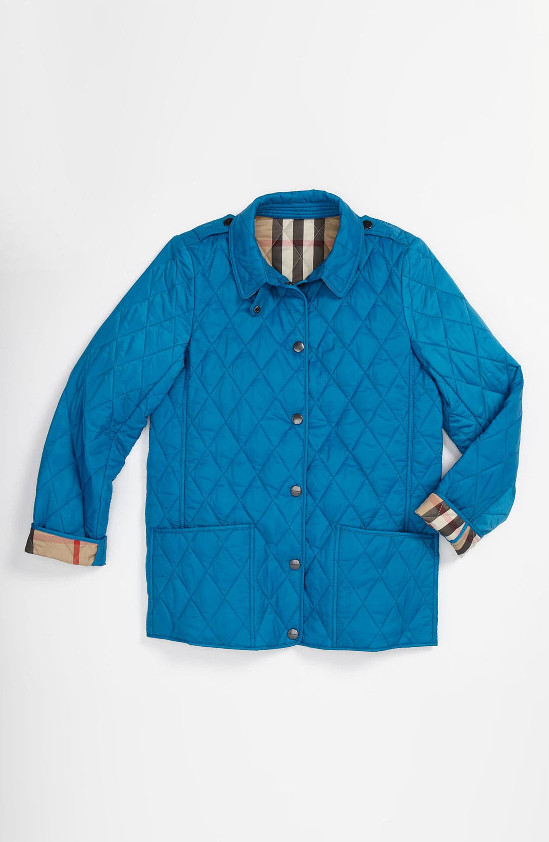 Alternate Image 1 Selected - Burberry 'Mini Pirmont' Quilted Jacket (Little Girls & Big Girls)