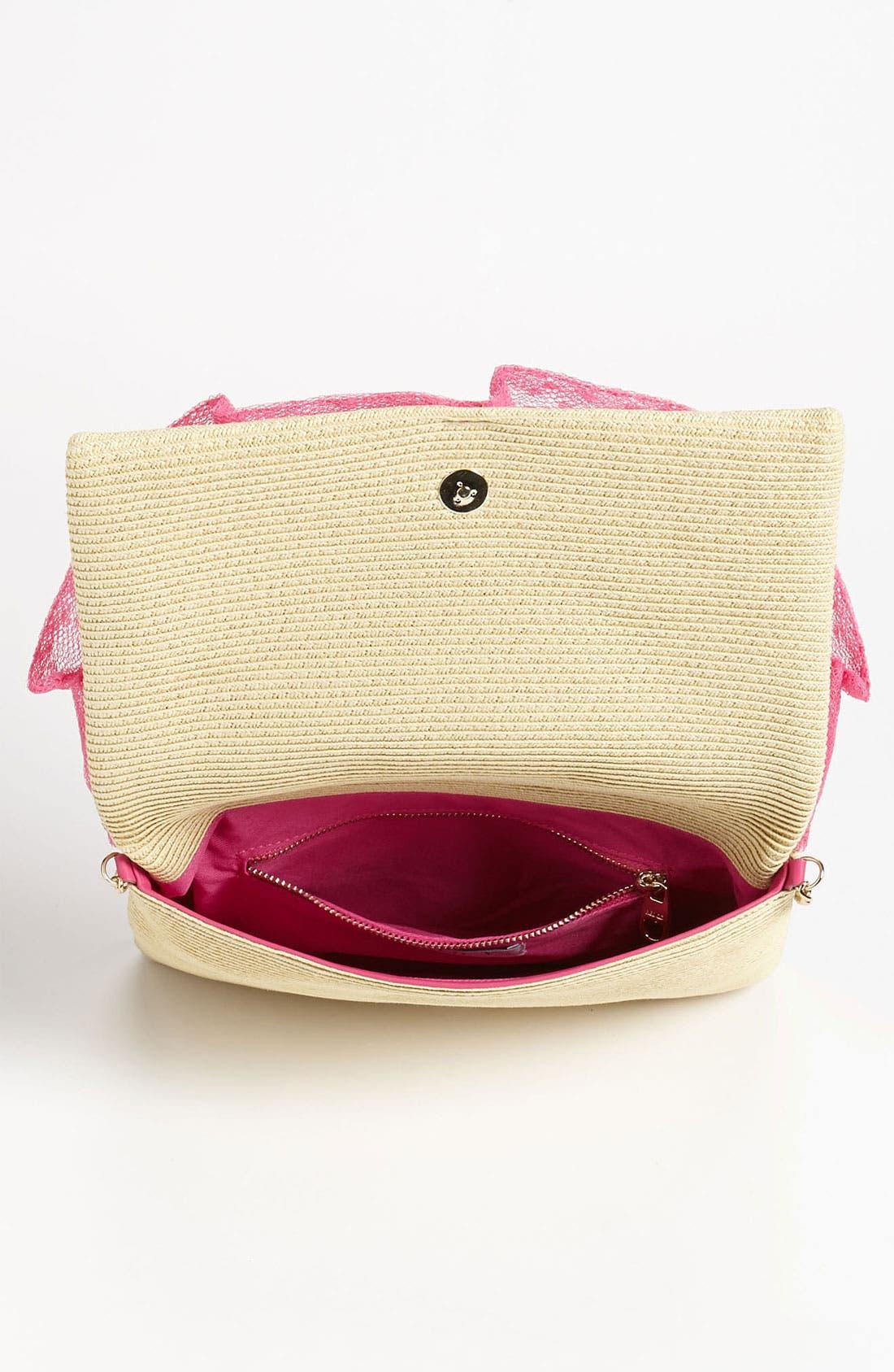 Alternate Image 3  - RED Valentino 'Bow' Straw Crossbody Bag