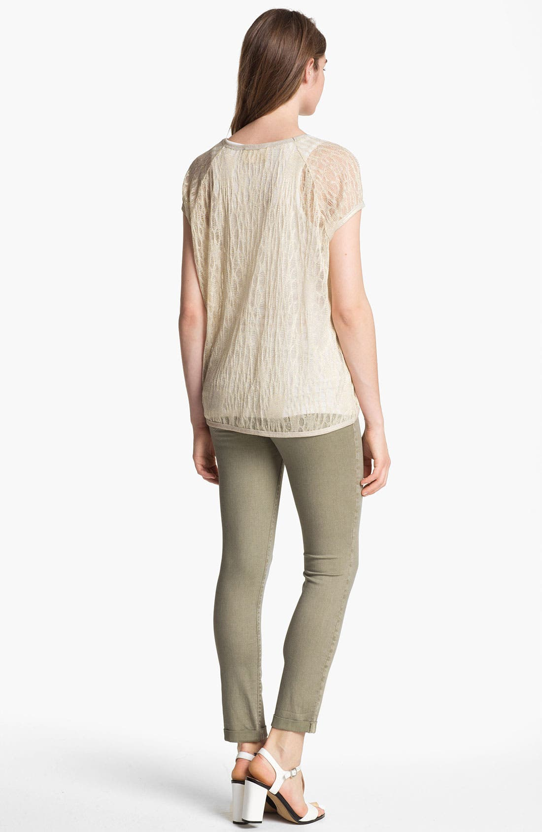 Alternate Image 3  - Two by Vince Camuto 'Shorty' Skinny Crop Jeans (Washed Olive)