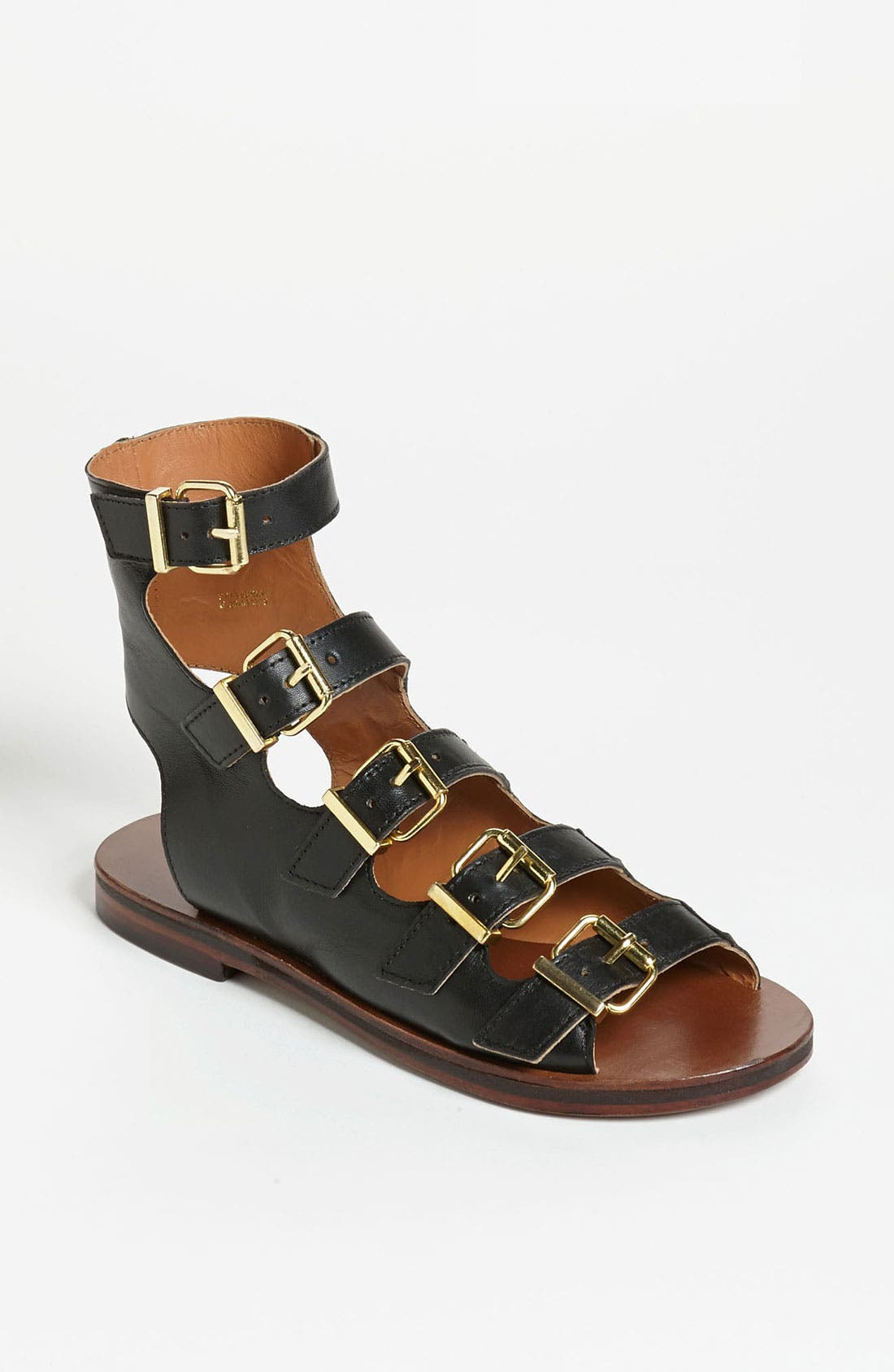 Alternate Image 1 Selected - Topshop 'Fable' Multi Buckle Sandal