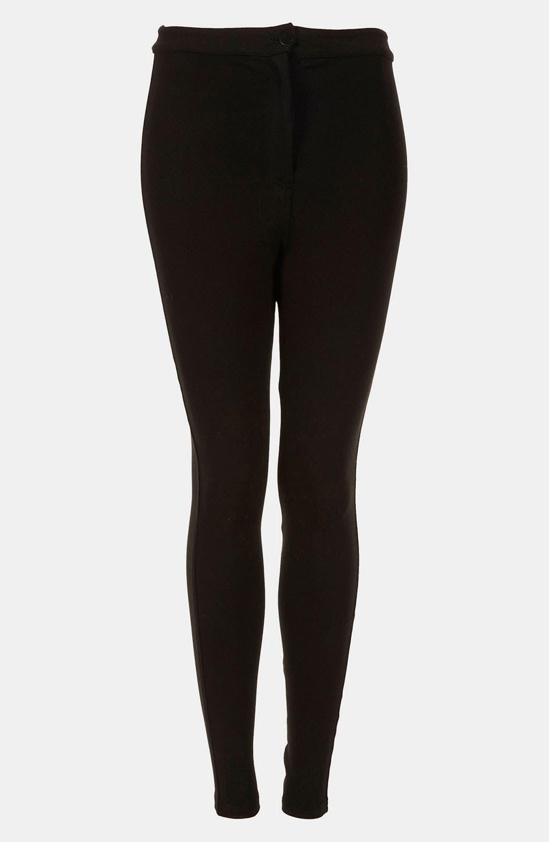 Main Image - Topshop High Waist Ponte Skinny Pants