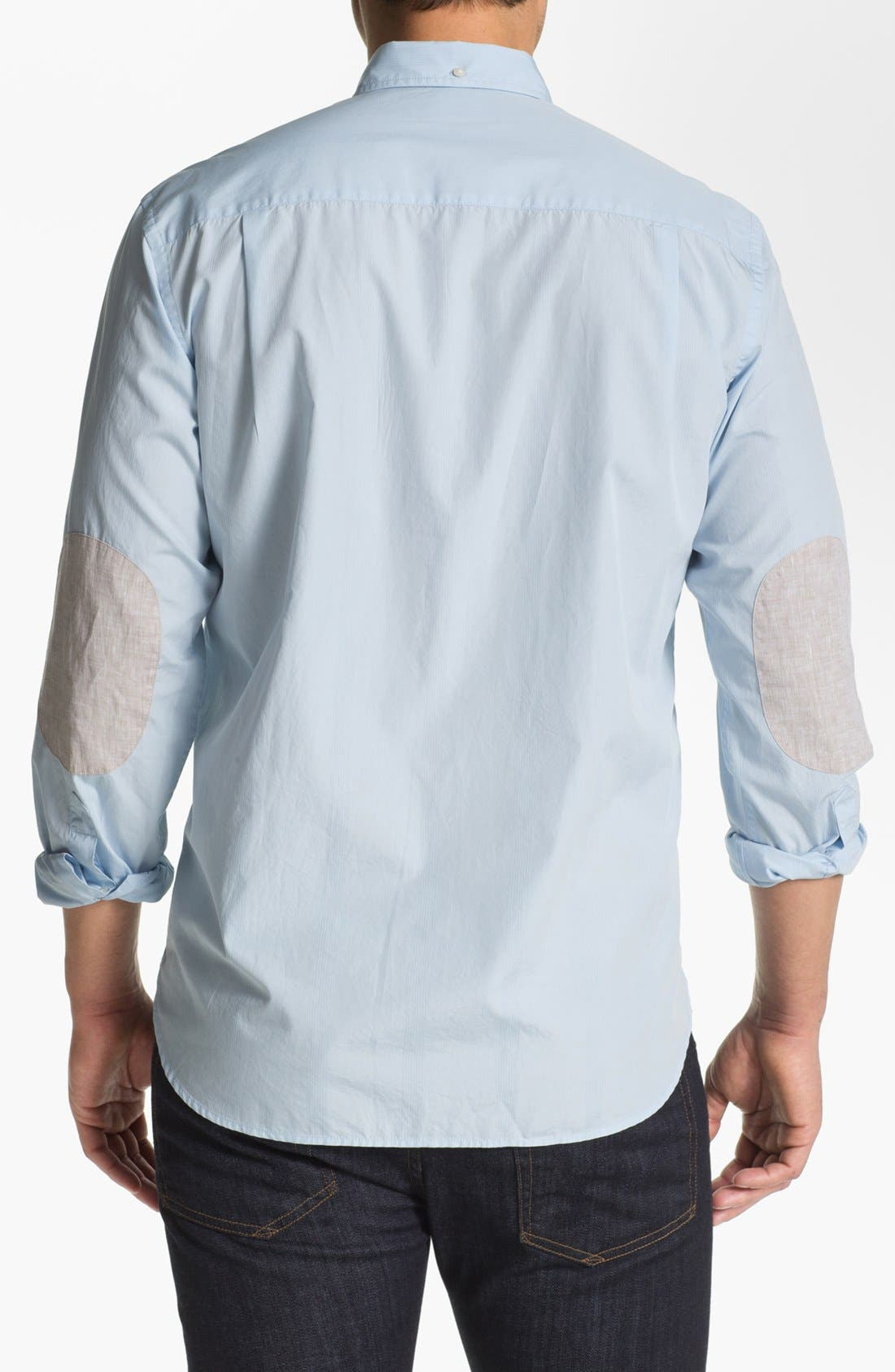 Alternate Image 2  - Façonnable Club Fit Cambric Sport Shirt