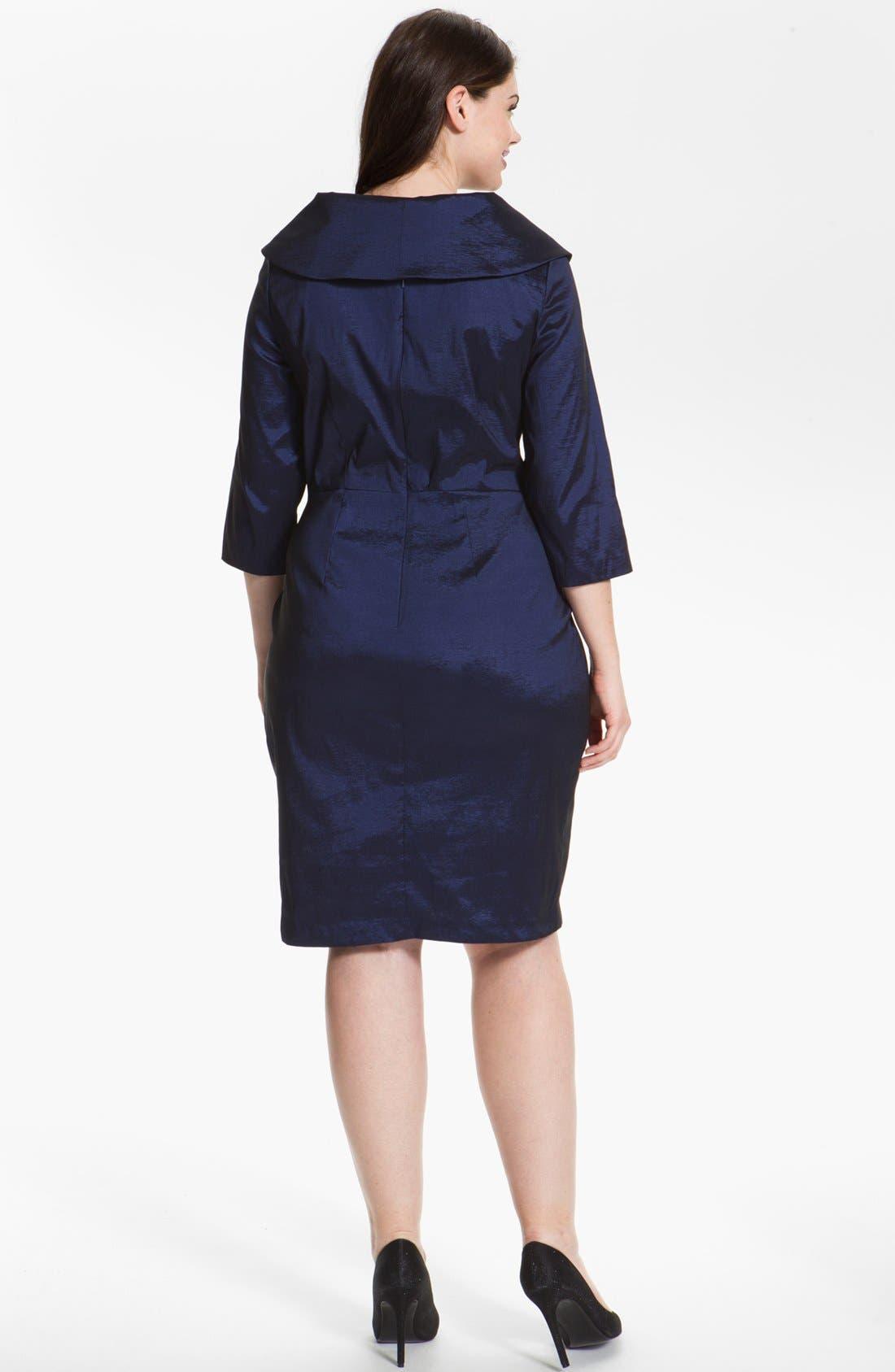 Alternate Image 2  - Alex Evenings Embellished Sheath Dress (Plus Size)