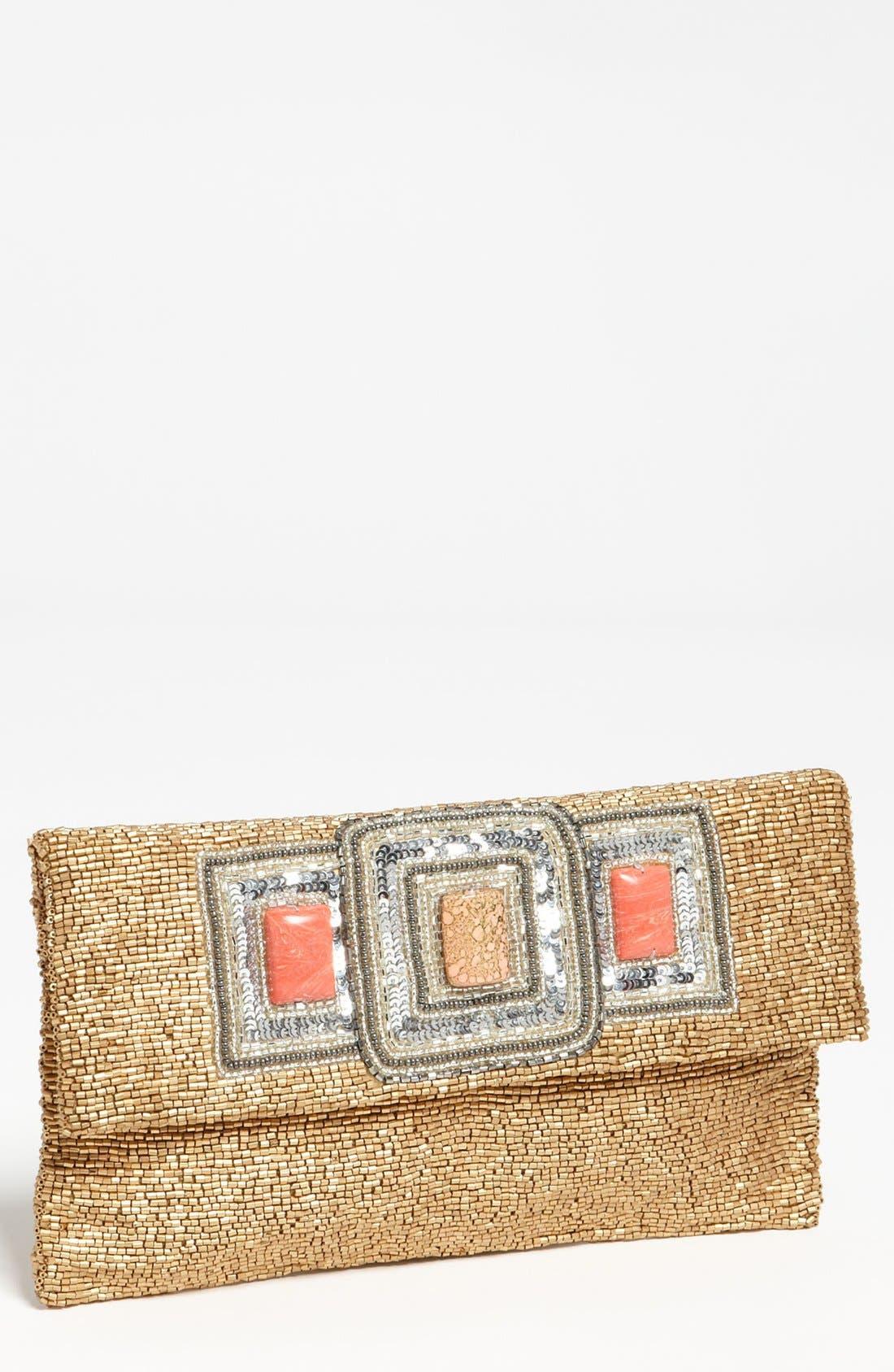 Alternate Image 1 Selected - Moyna 'Three Stone' Beaded Clutch