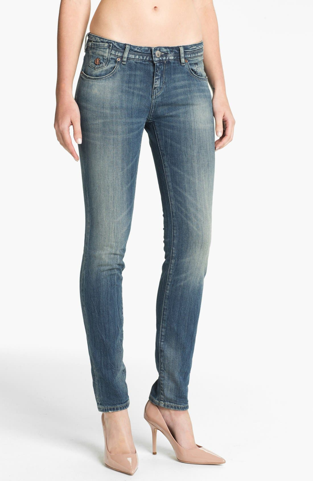 Alternate Image 1 Selected - Maison Scotch 'La Parisienne' Bleach Washed Skinny Jeans (Bleutiful)