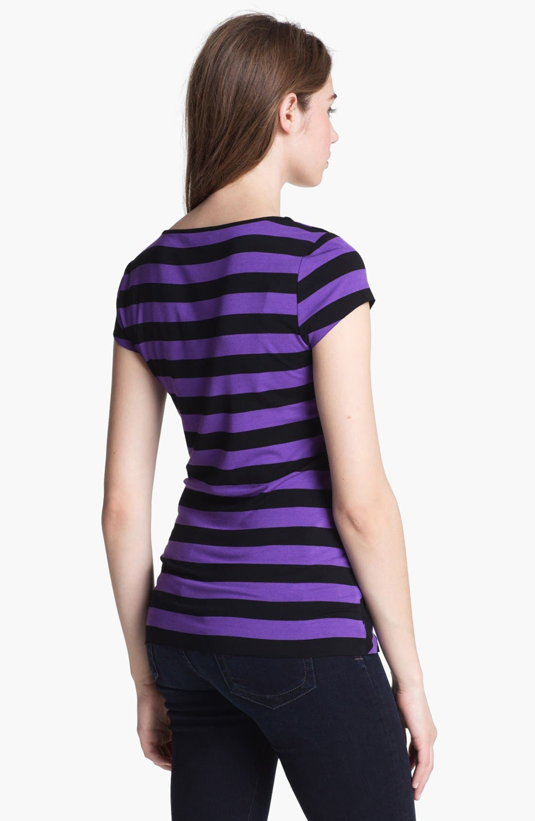 Alternate Image 2  - Vince Camuto Tiered Stripe Top