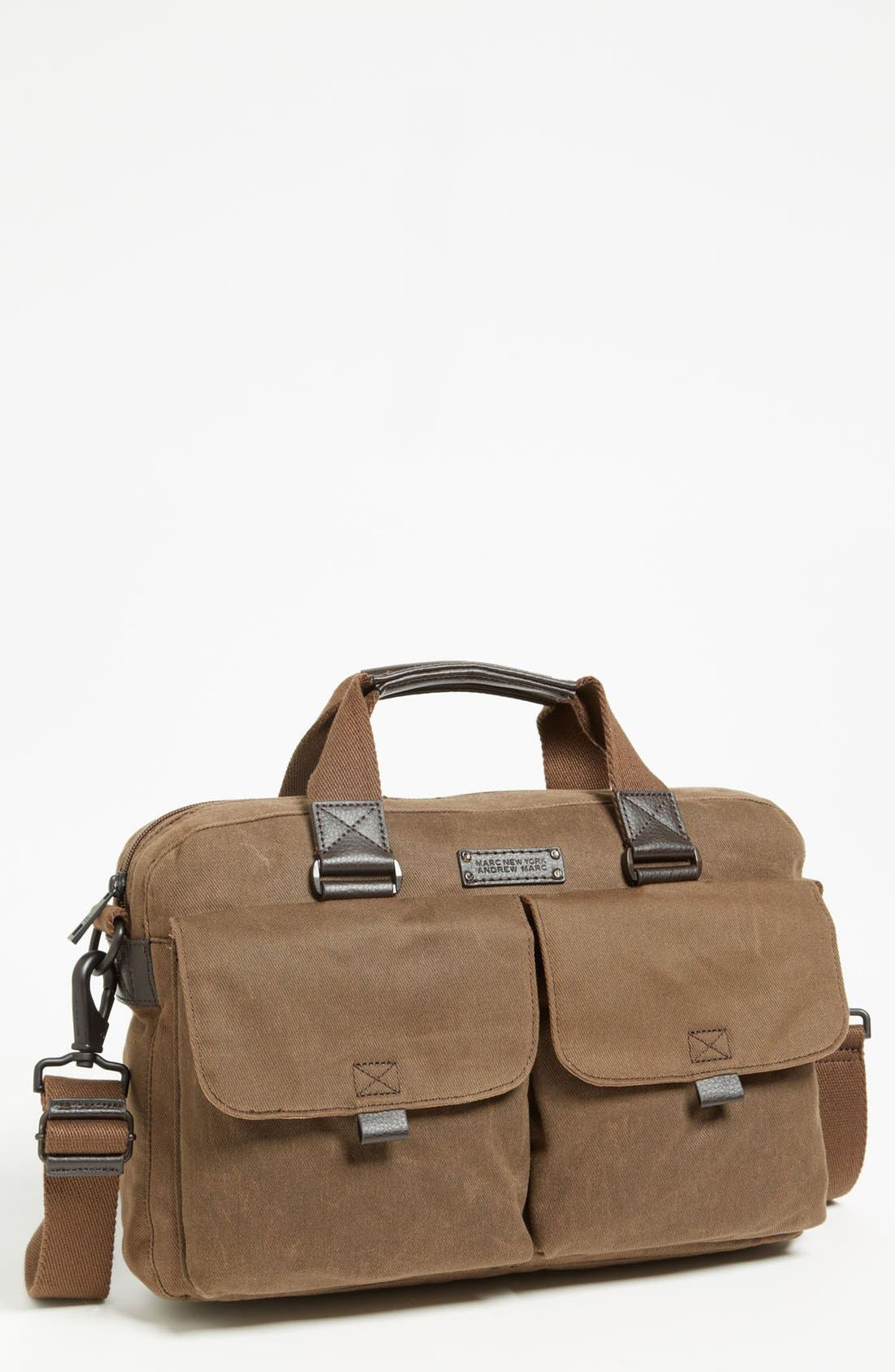 Alternate Image 1 Selected - Andrew Marc 'Essex' Twill Briefcase