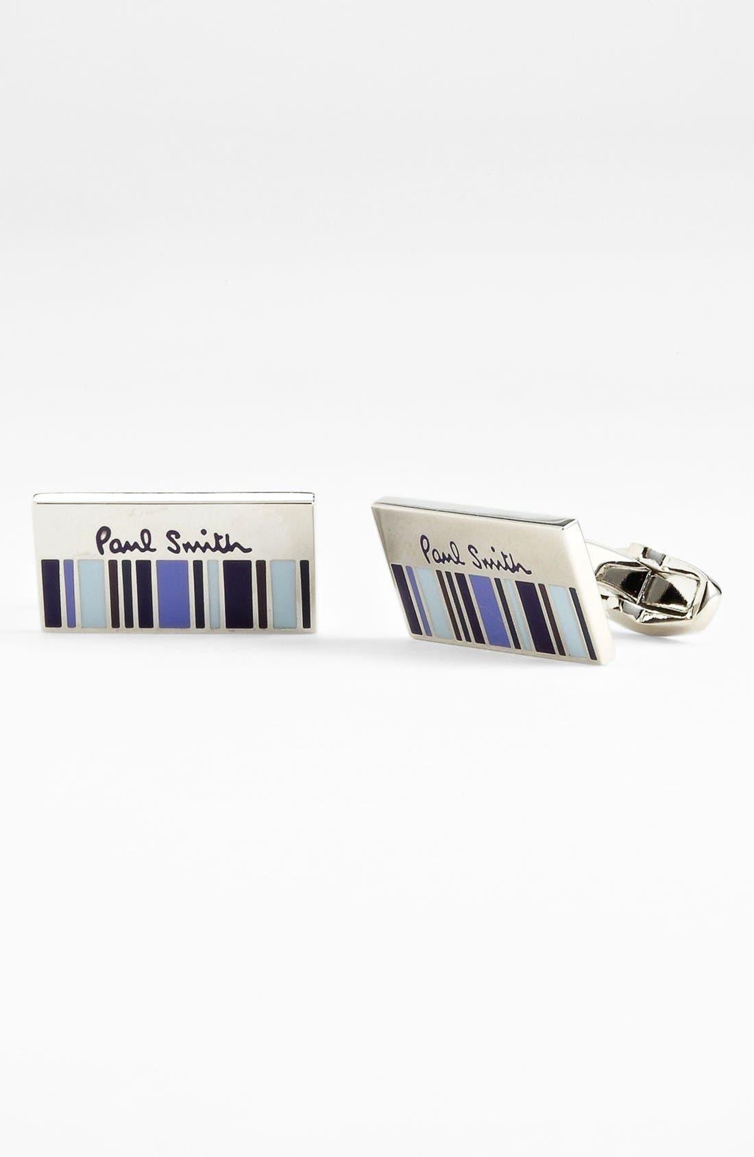 Alternate Image 1 Selected - Paul Smith Accessories 'Half Stripe' Cuff Links