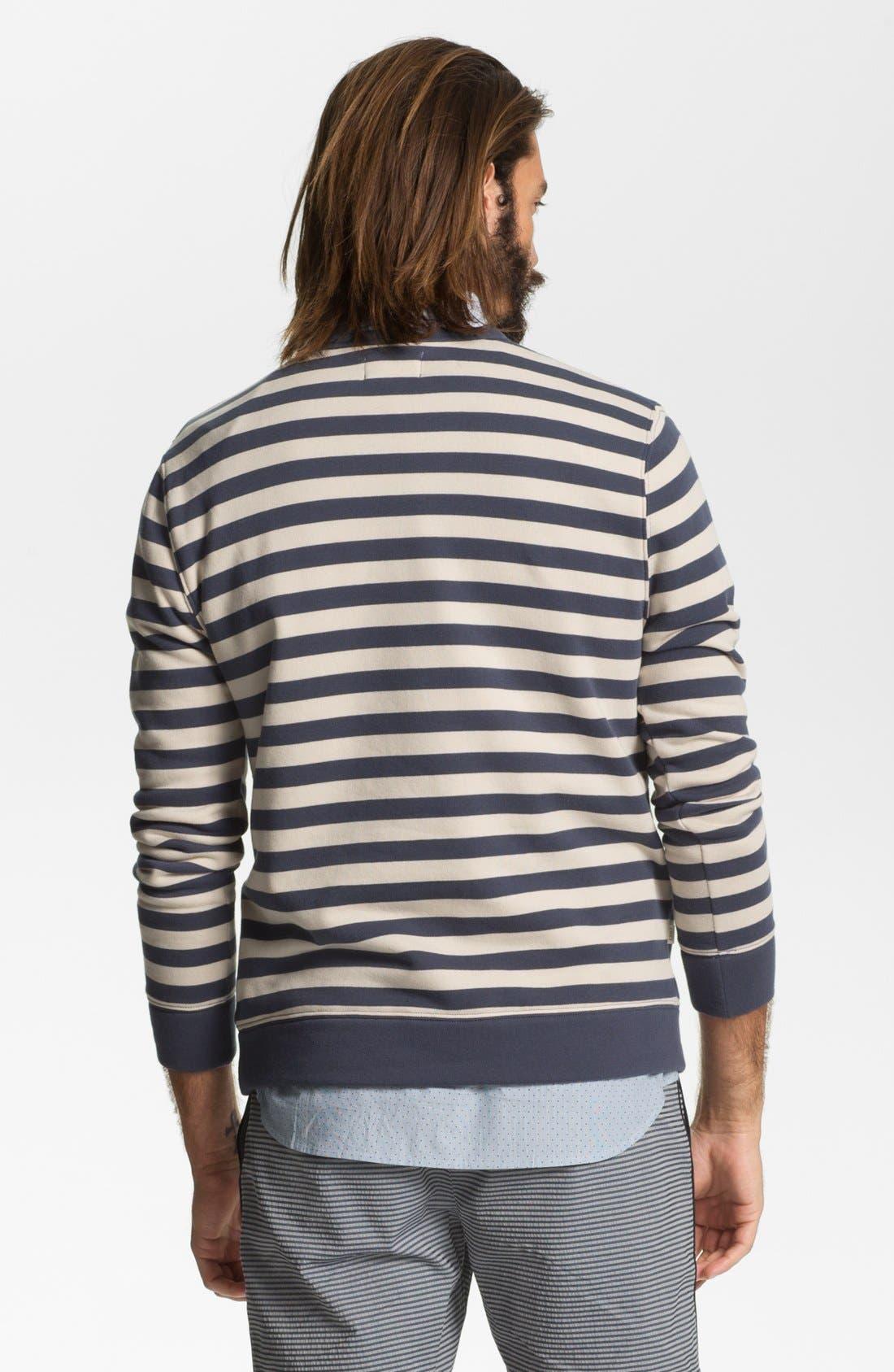 Alternate Image 2  - Obey 'Dano' Stripe Crewneck Sweatshirt