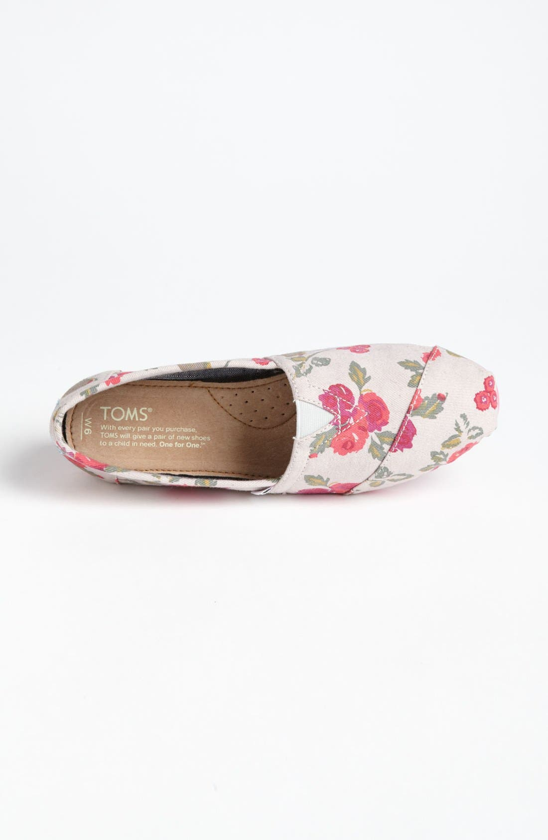 Alternate Image 3  - TOMS 'Classic - Floral' Slip-On (Women)