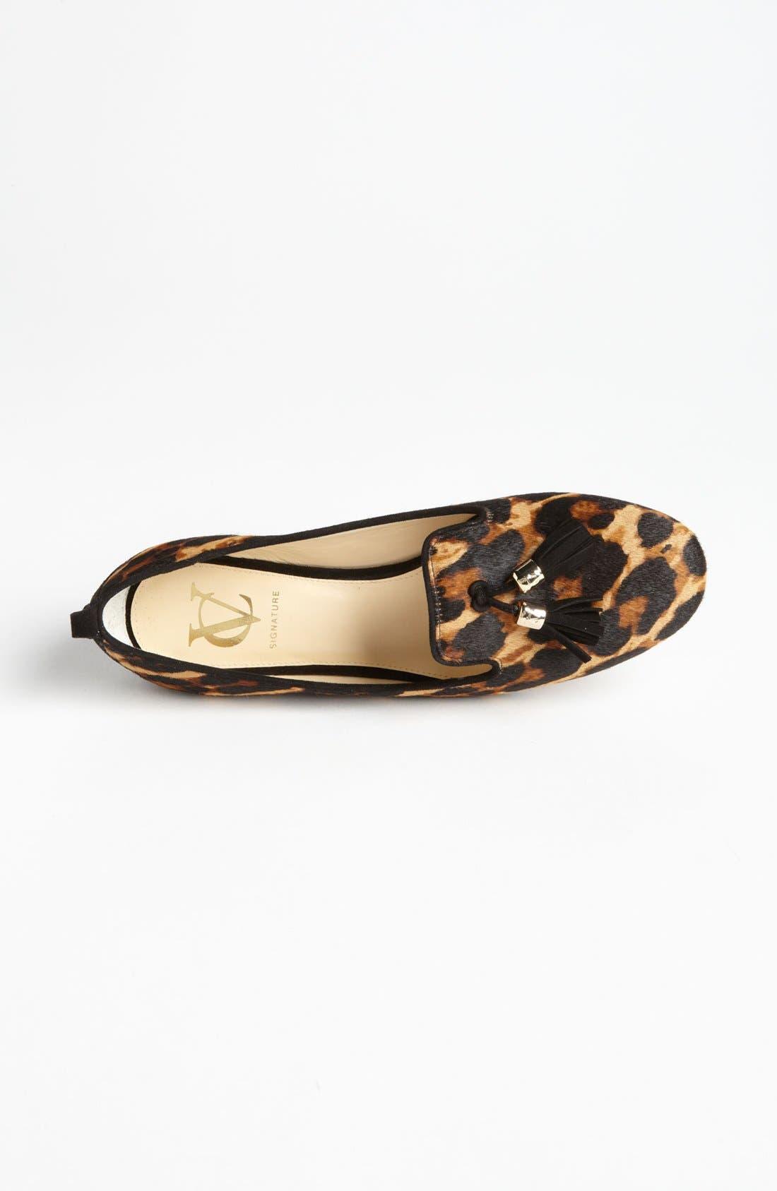 'Nancy' Loafer,                             Alternate thumbnail 3, color,                             Leopard Haircalf