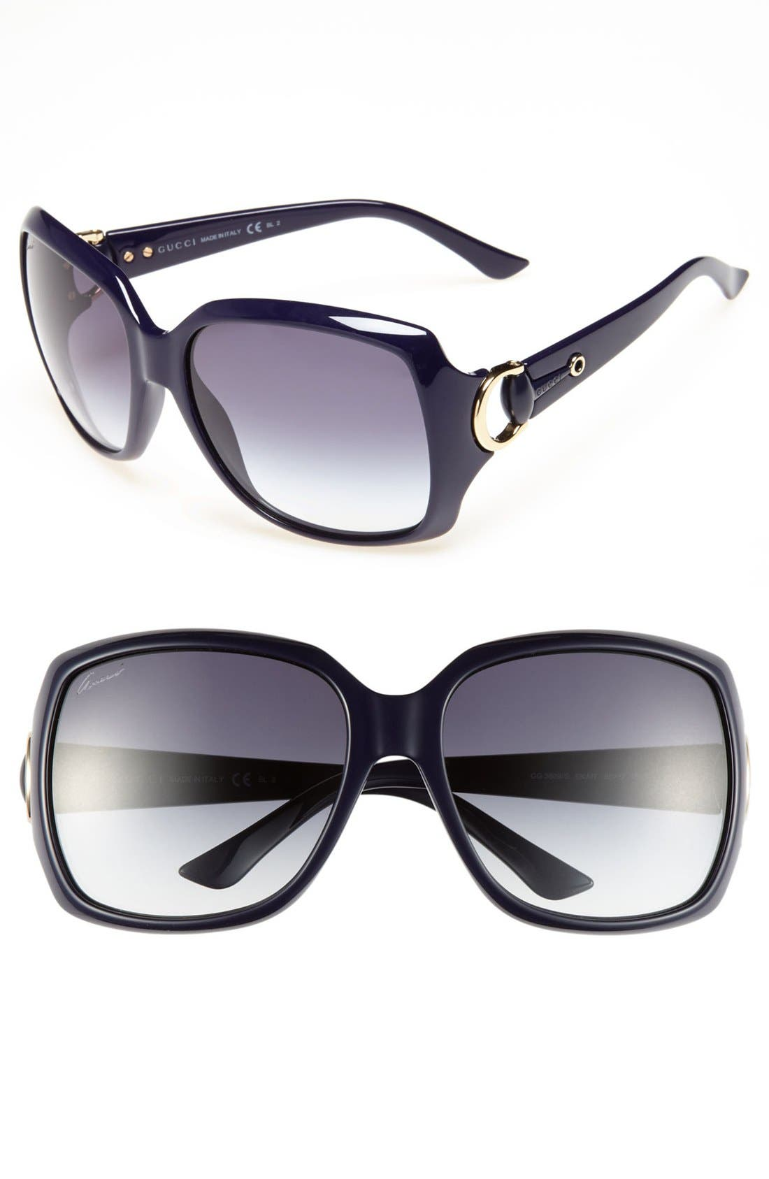 Alternate Image 1 Selected - Gucci 60mm Sunglasses