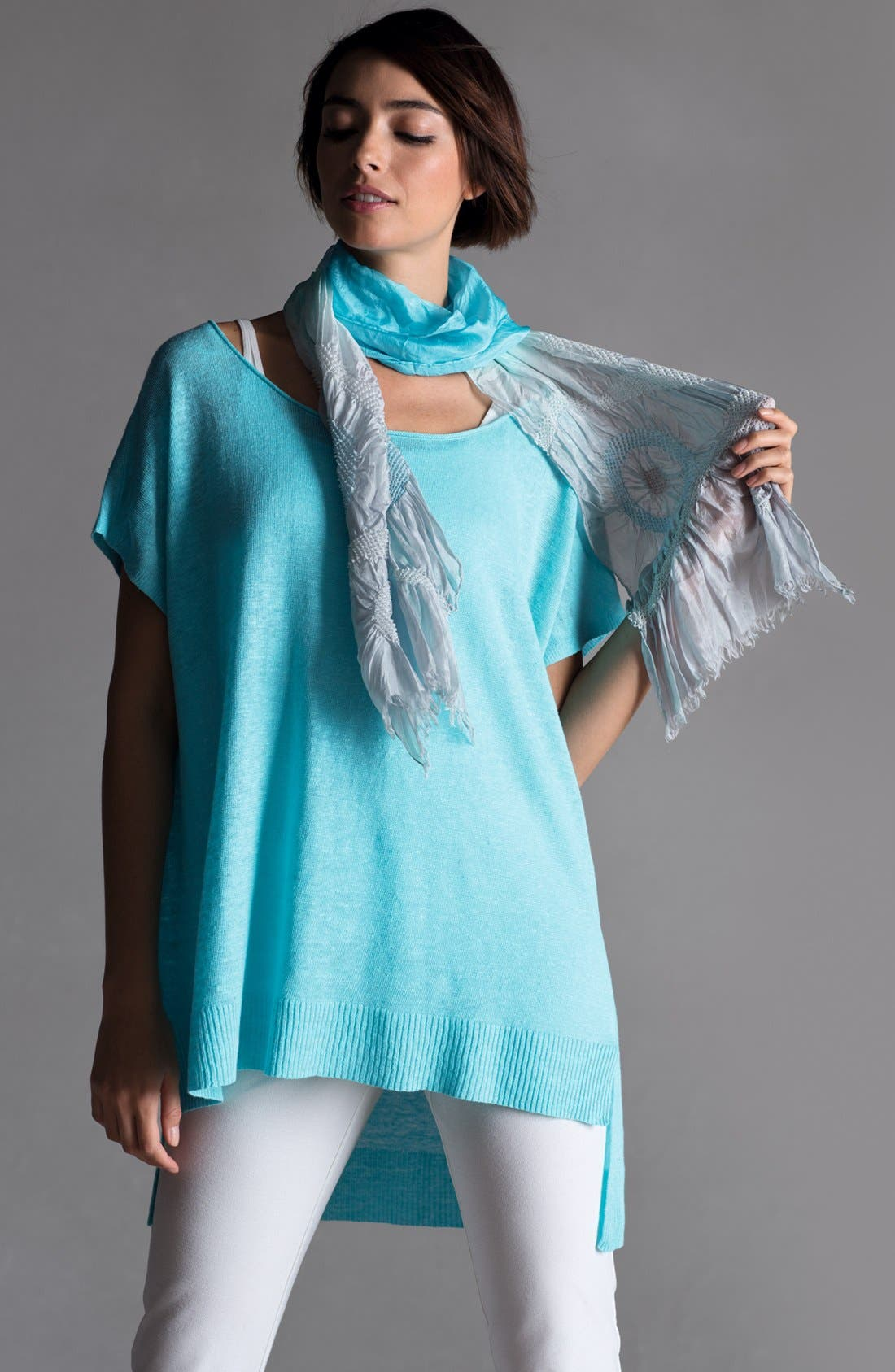 Alternate Image 2  - Eileen Fisher Tunic, Ankle Pants & Scarf