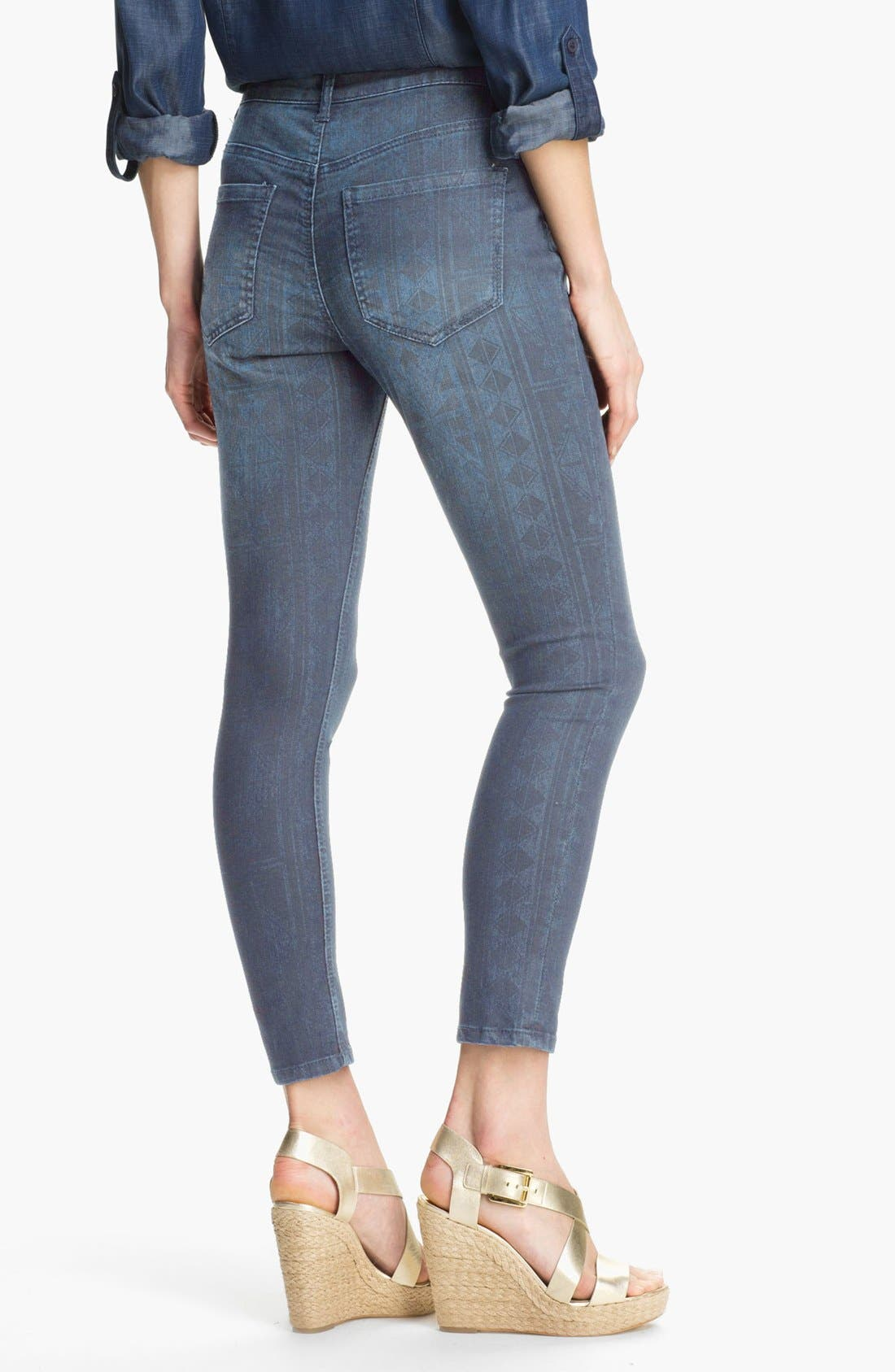 Alternate Image 2  - Liverpool Jeans Company 'Abby' Print Skinny Ankle Jeans