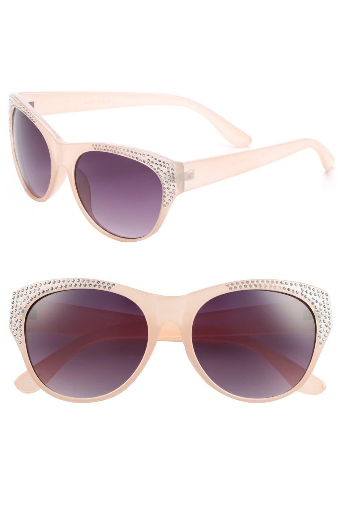 Alternate Image 1 Selected - Fantas Eyes Rhinestone Stud Sunglasses