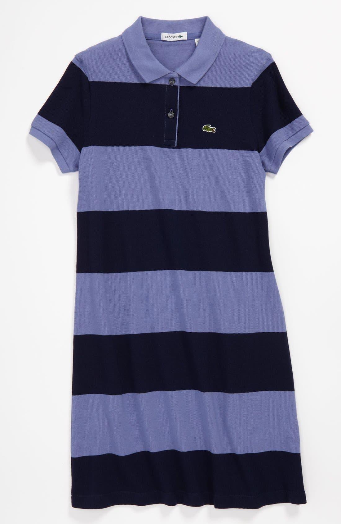 Main Image - Lacoste Stripe Dress (Big Girls)