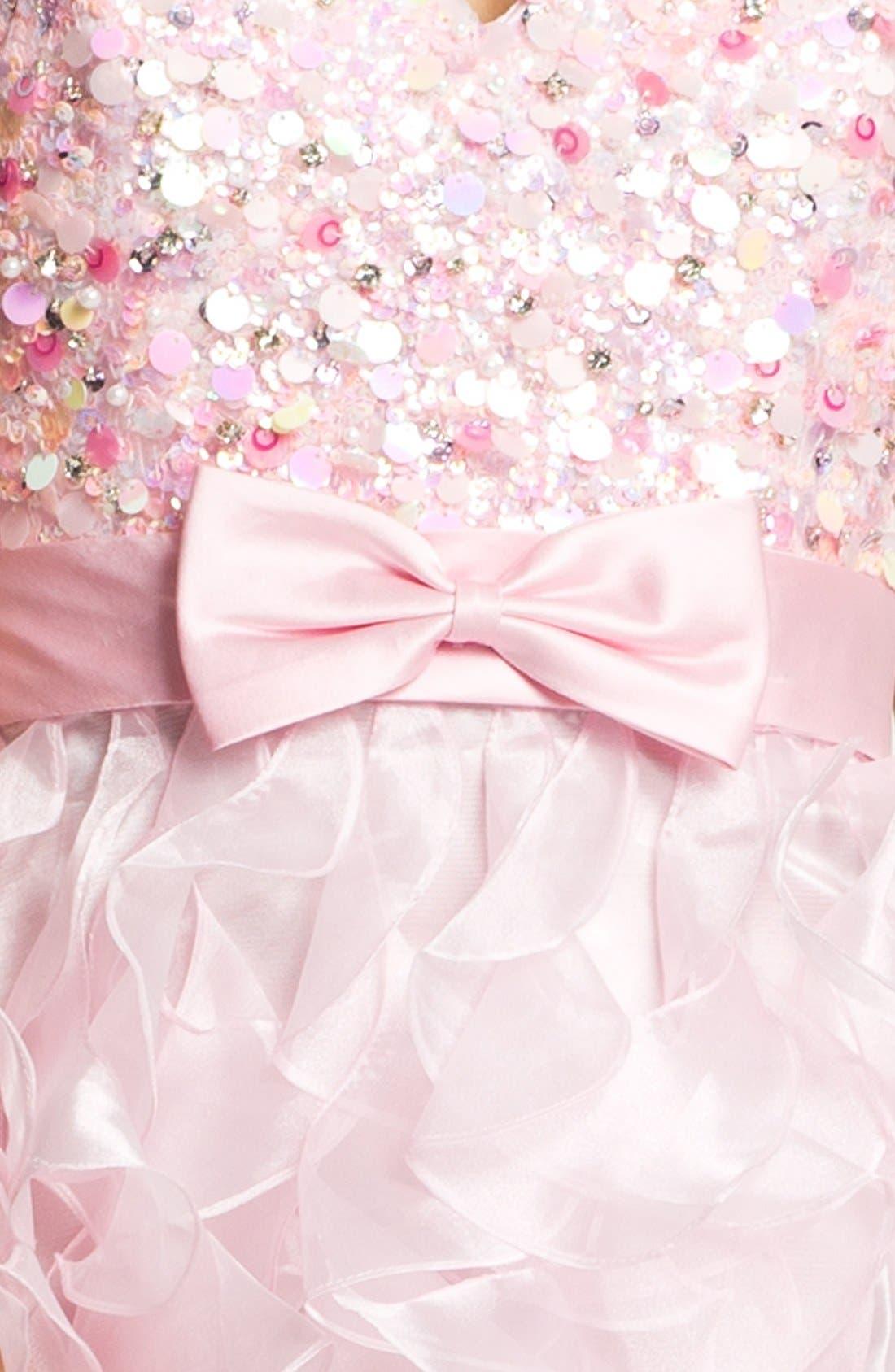 Alternate Image 3  - Sherri Hill 'Corkscrew' Embellished Ruffled Chiffon Dress