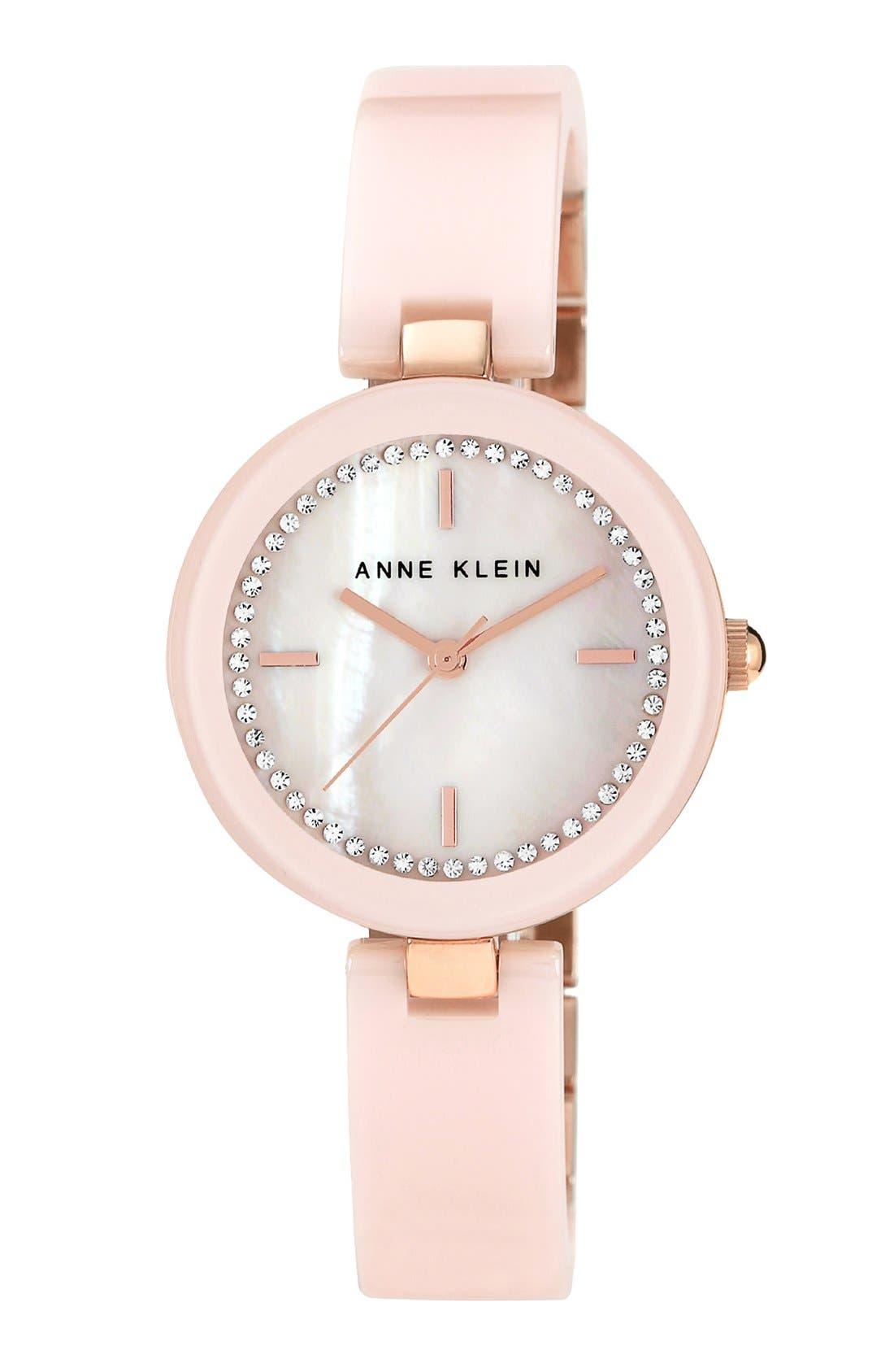 Alternate Image 1 Selected - Anne Klein Ceramic Half Bangle Watch, 31mm