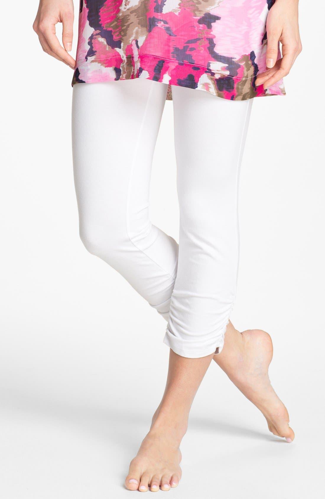 Alternate Image 1 Selected - Ralph Lauren Ruched Capri Leggings