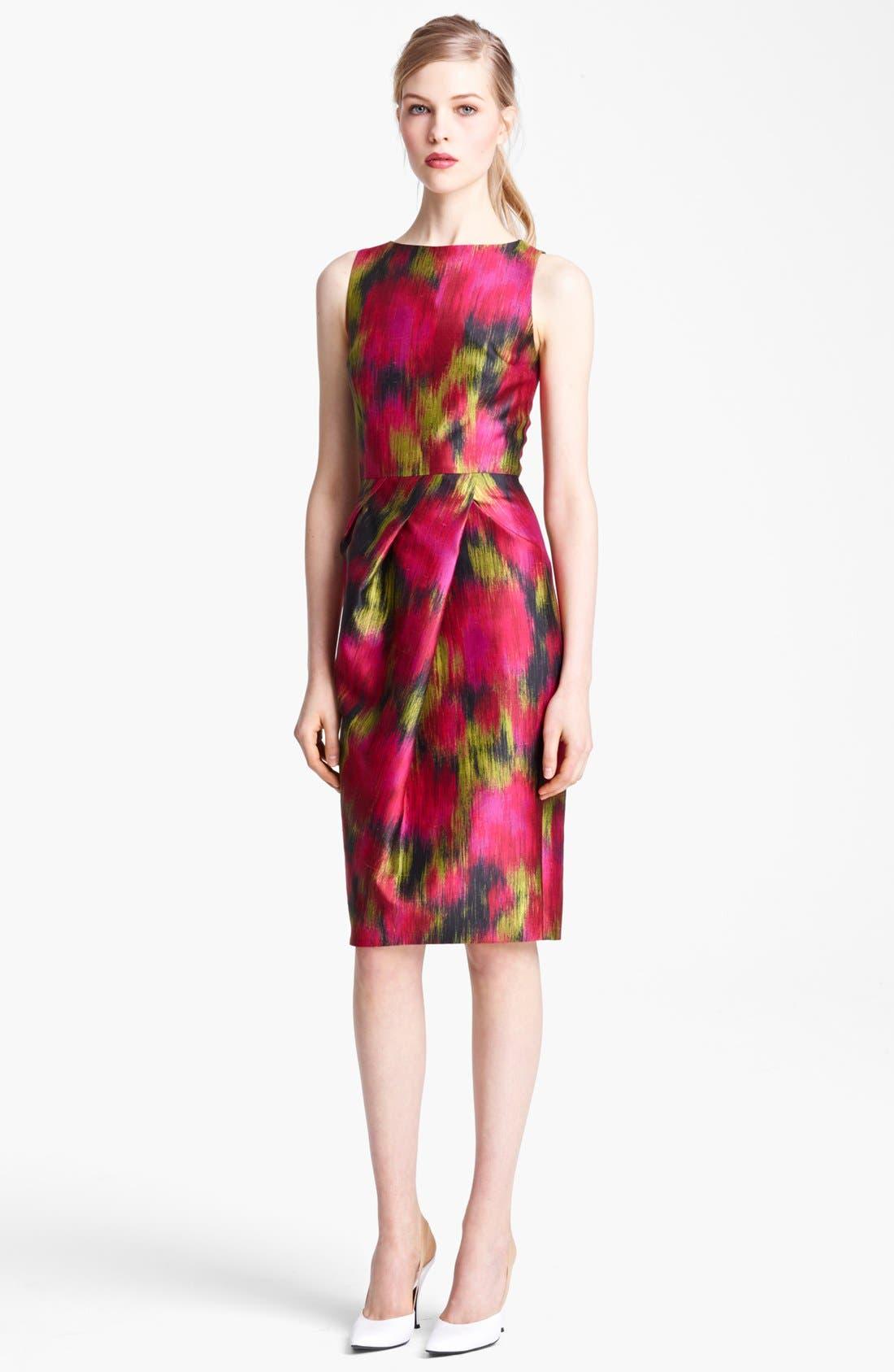 Main Image - Michael Kors Zinnia Print Shantung Dress