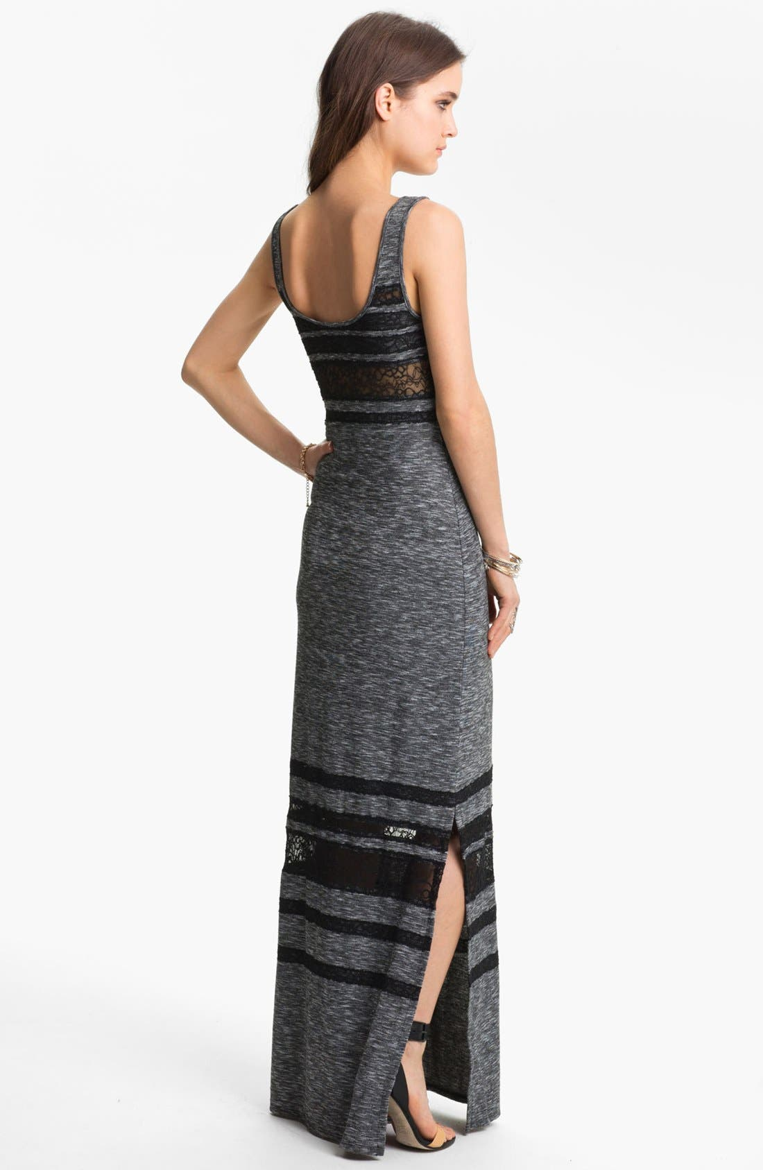 Alternate Image 2  - Free People 'Hazy Day' Lace Stripe Maxi Dress