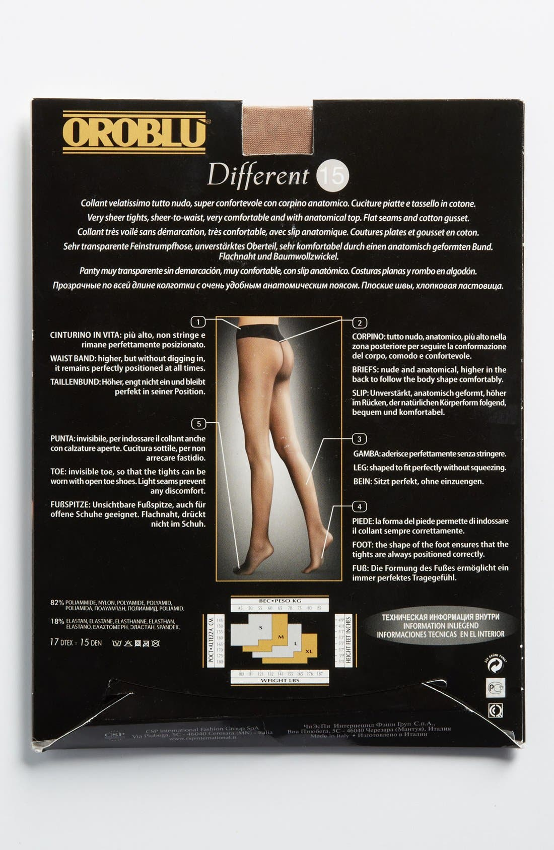 Different Comfort Pantyhose,                             Alternate thumbnail 4, color,                             Nude