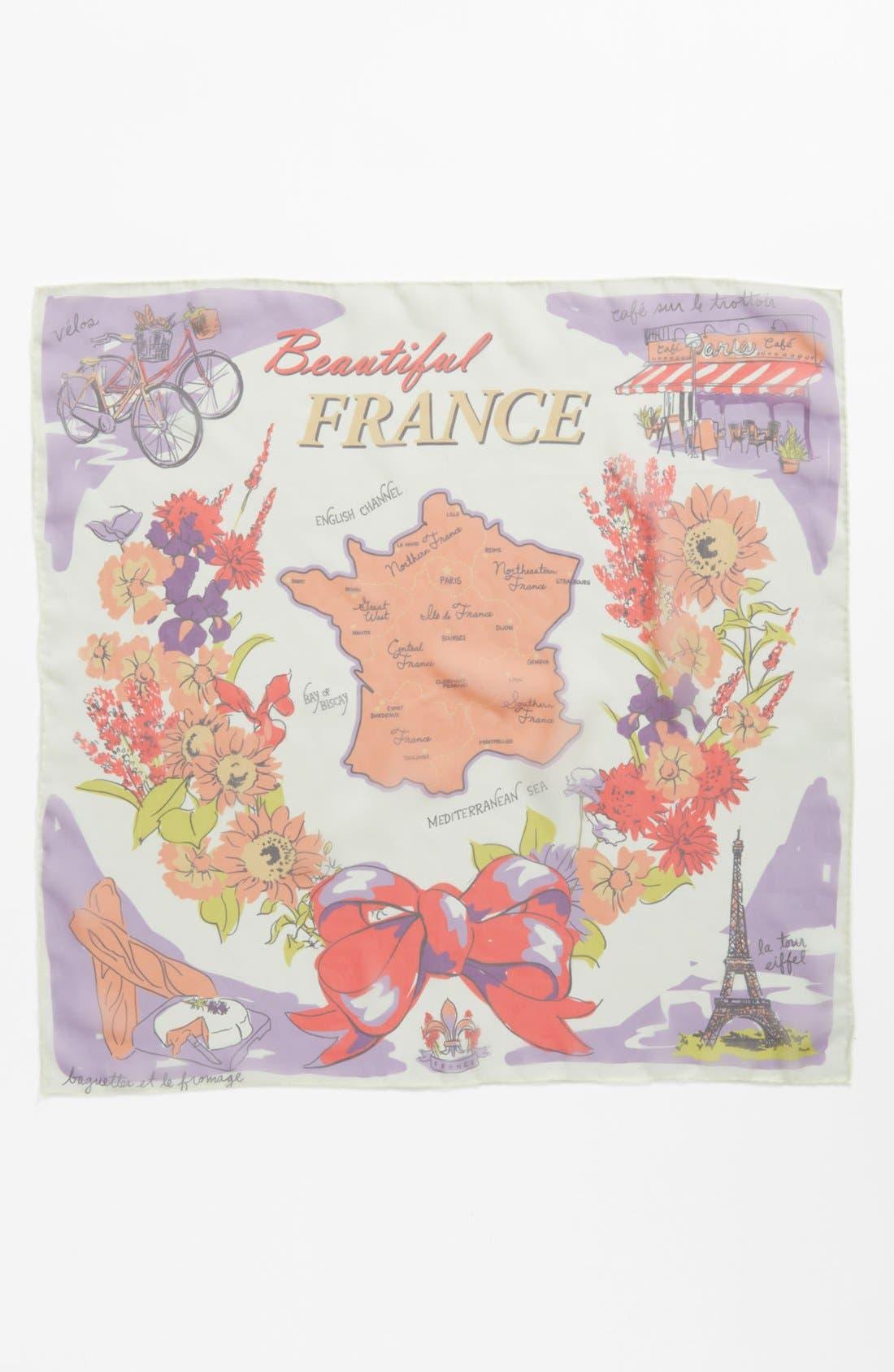 Alternate Image 1 Selected - Tarnish 'Beautiful France' Scarf