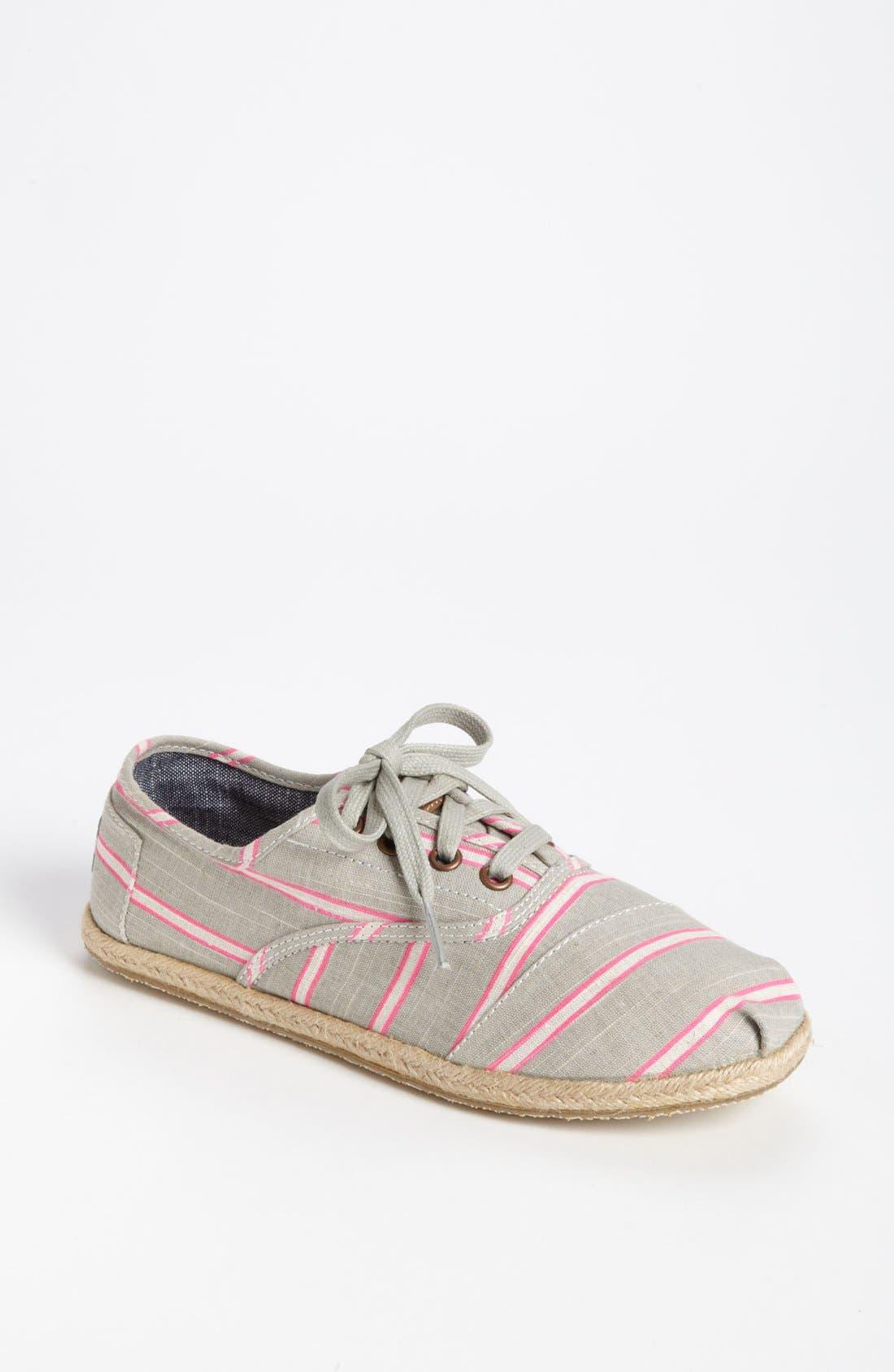 Main Image - TOMS 'Cordones - Washed Stripe' Slip-On (Women)