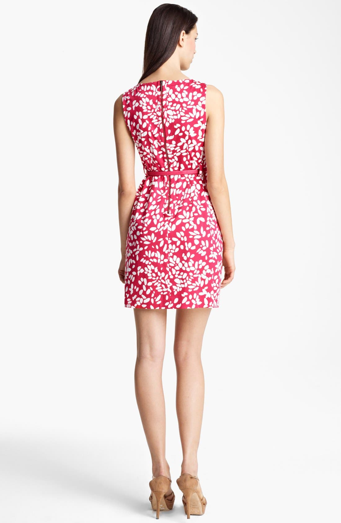 Alternate Image 2  - Armani Collezioni Belted Print Dress
