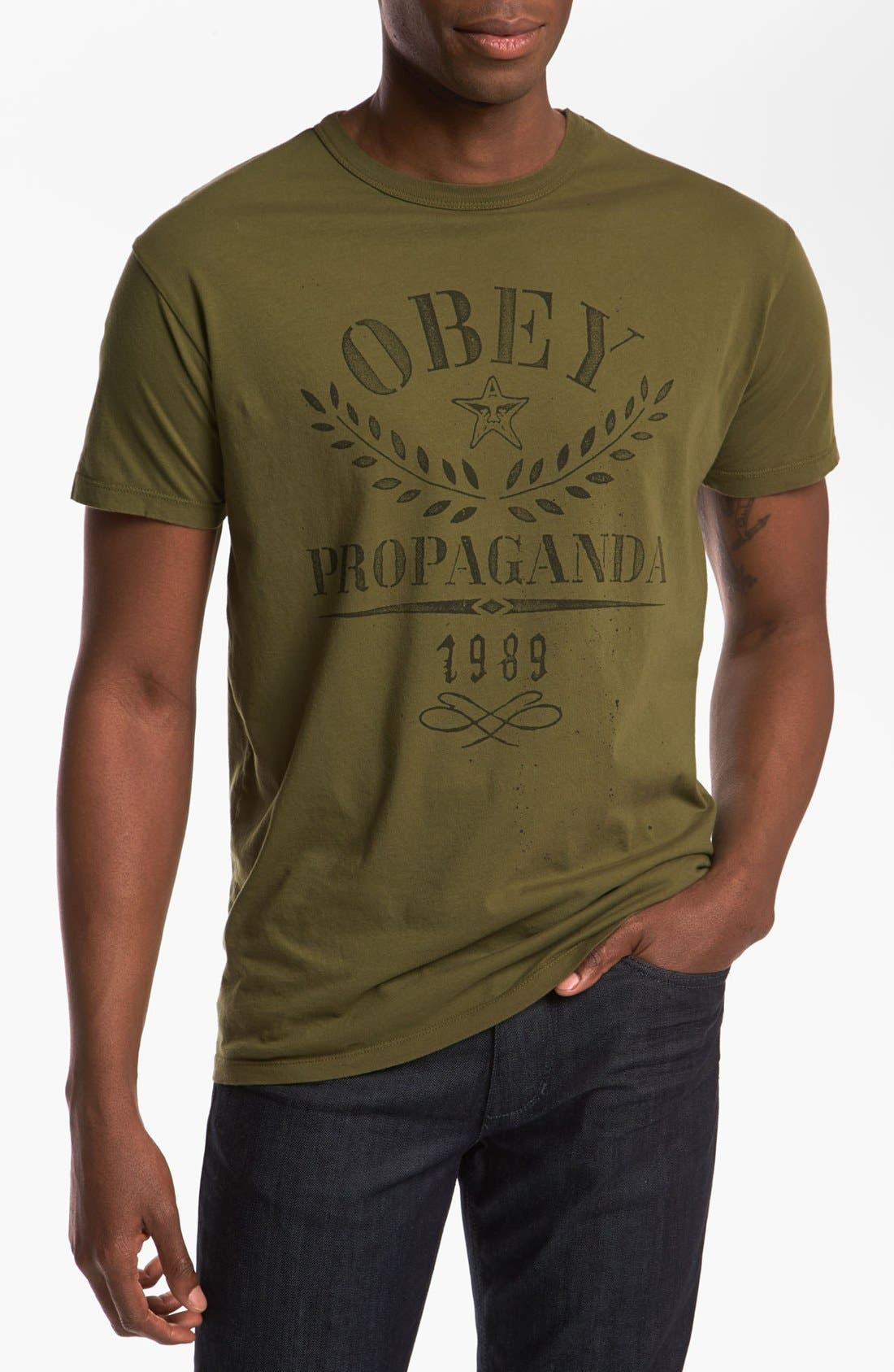 Alternate Image 1 Selected - Obey 'Propaganda Flower Sack' T-Shirt