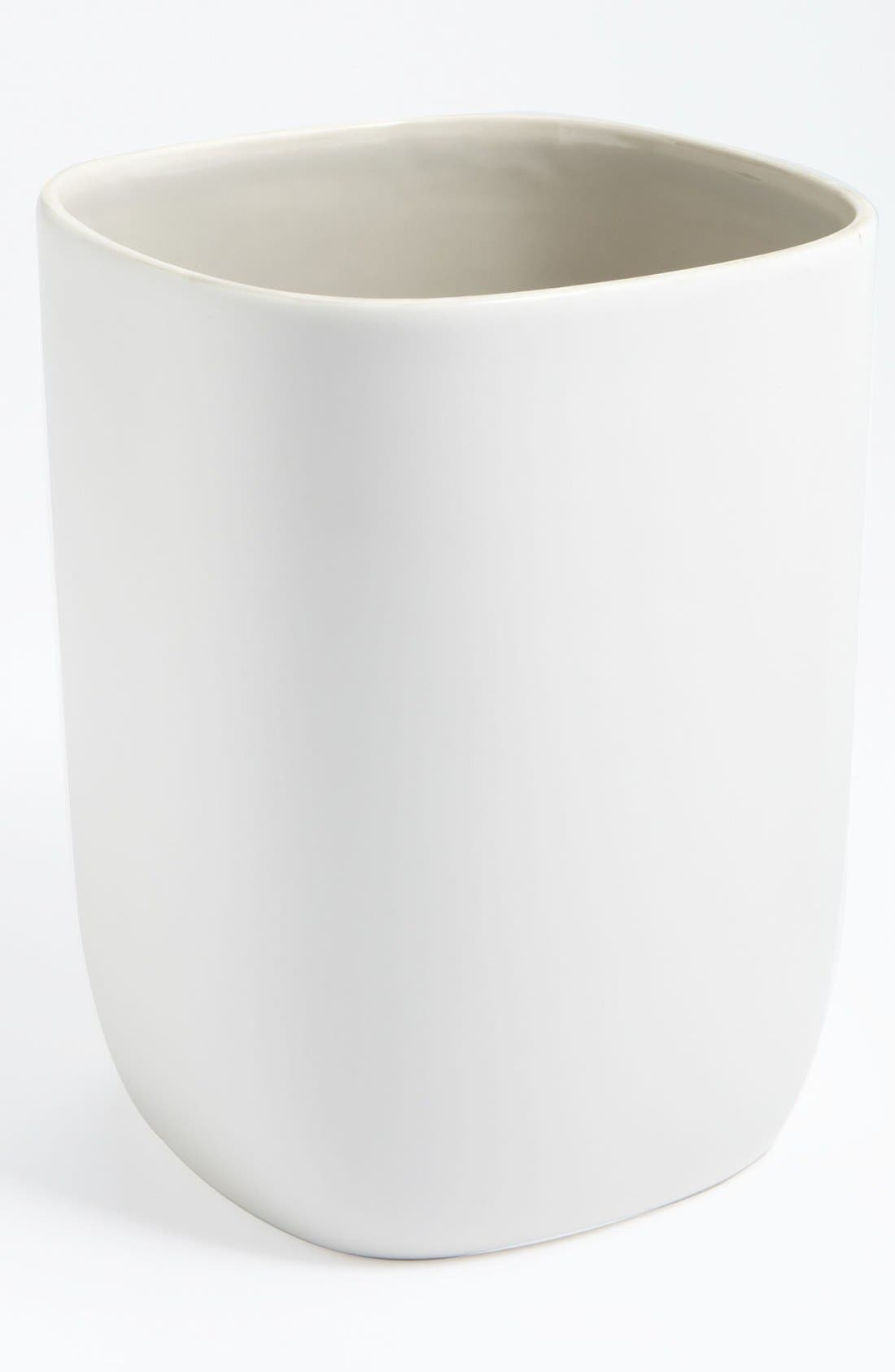 Alternate Image 1 Selected - Waterworks Studio 'Modern' Ceramic Wastebasket (Online Only)