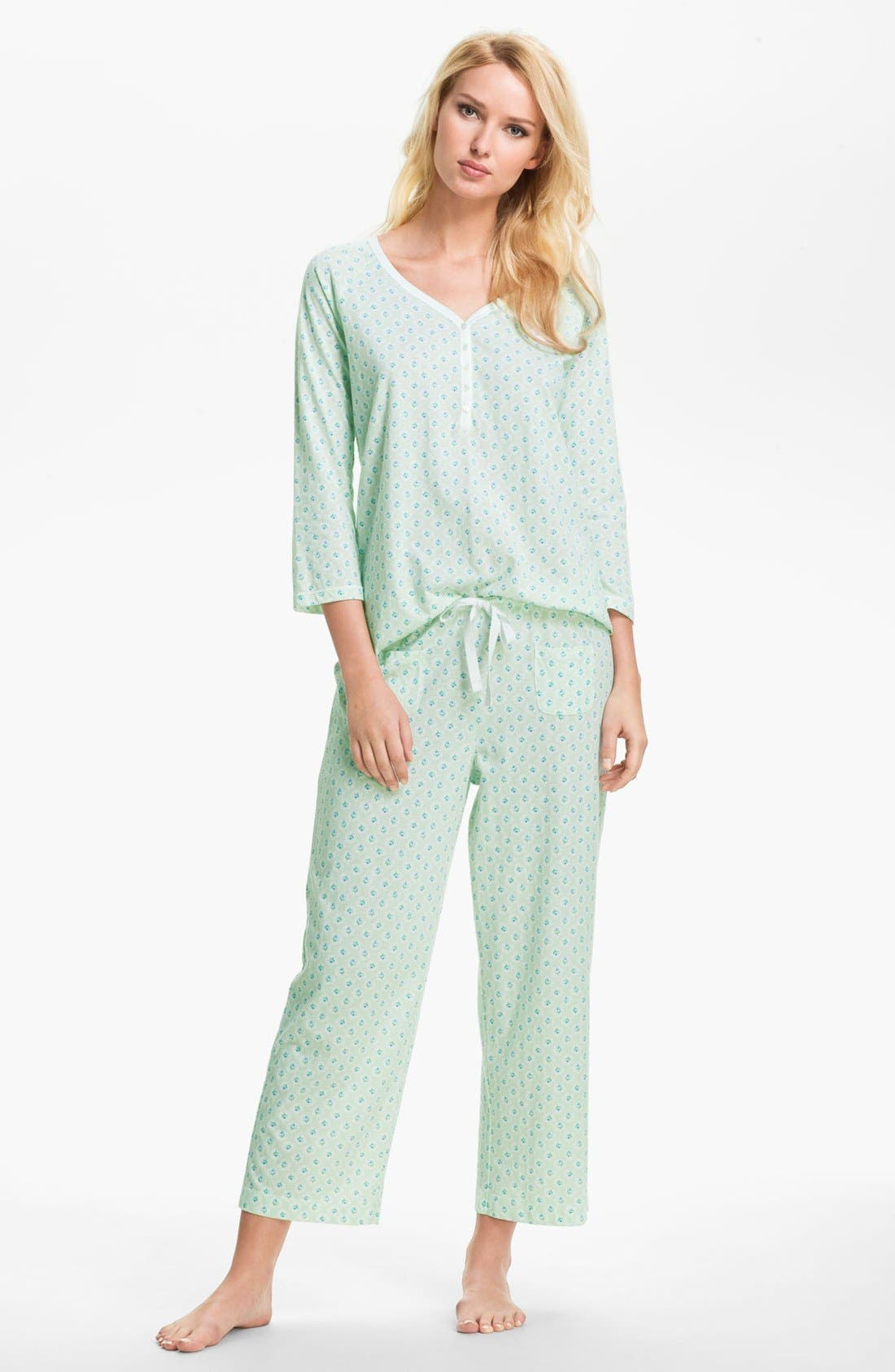 Alternate Image 1 Selected - Carole Hochman Designs 'Vintage Rose' Pajamas