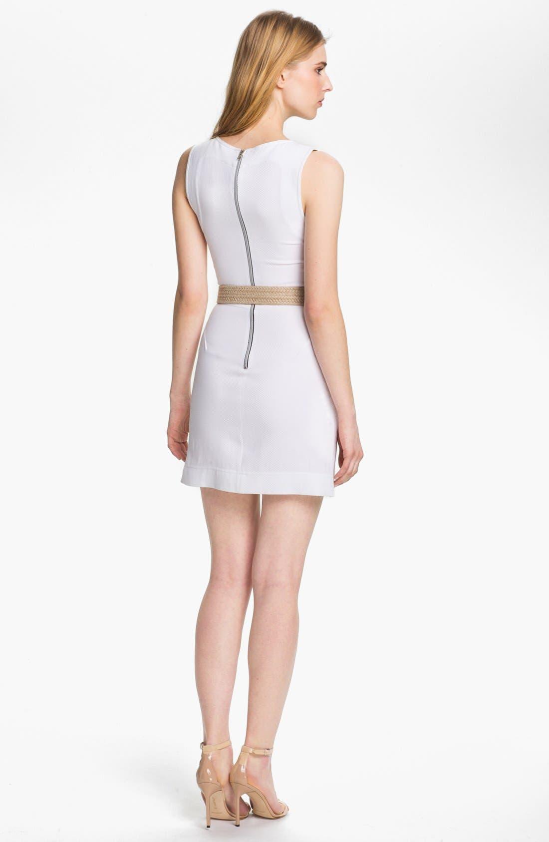 Alternate Image 2  - L'AGENCE Belted Square Neck Tennis Dress