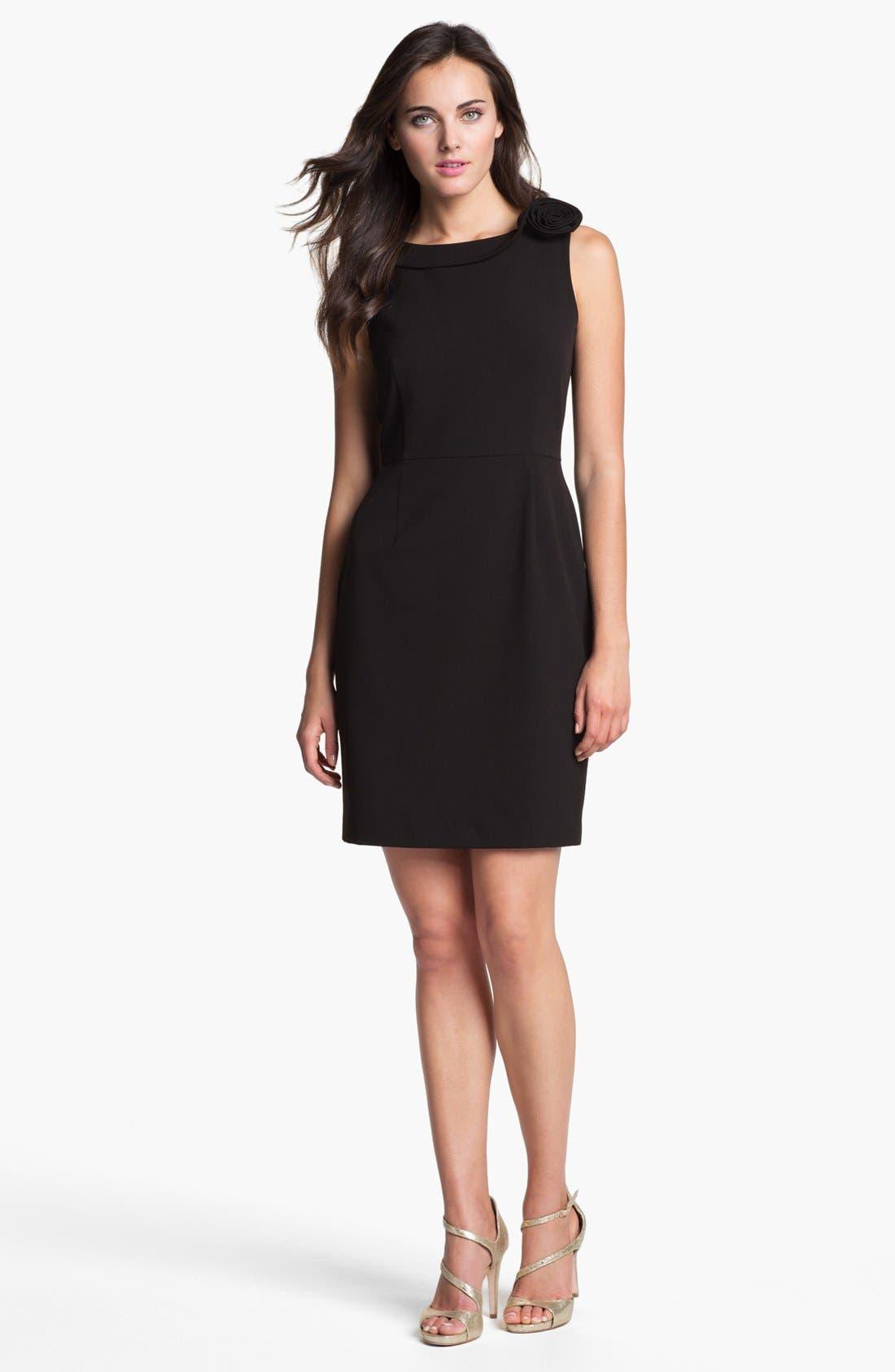 Alternate Image 1 Selected - Calvin Klein Rosette Detail Sheath Dress