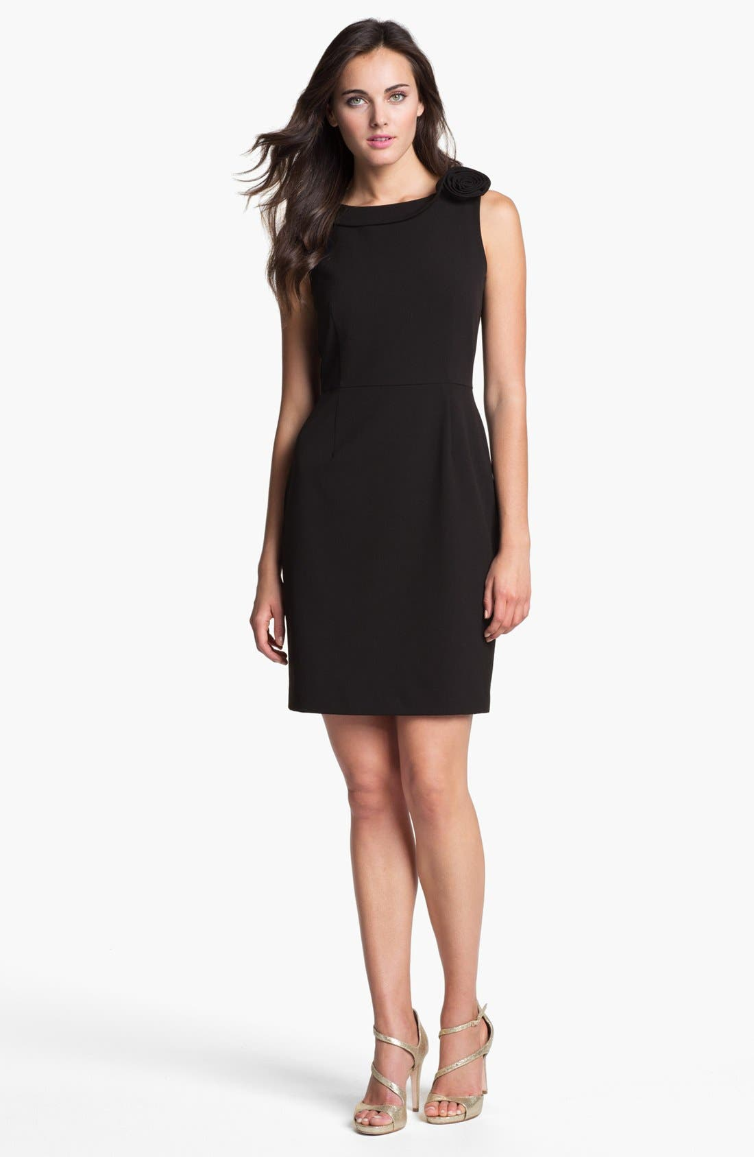 Main Image - Calvin Klein Rosette Detail Sheath Dress