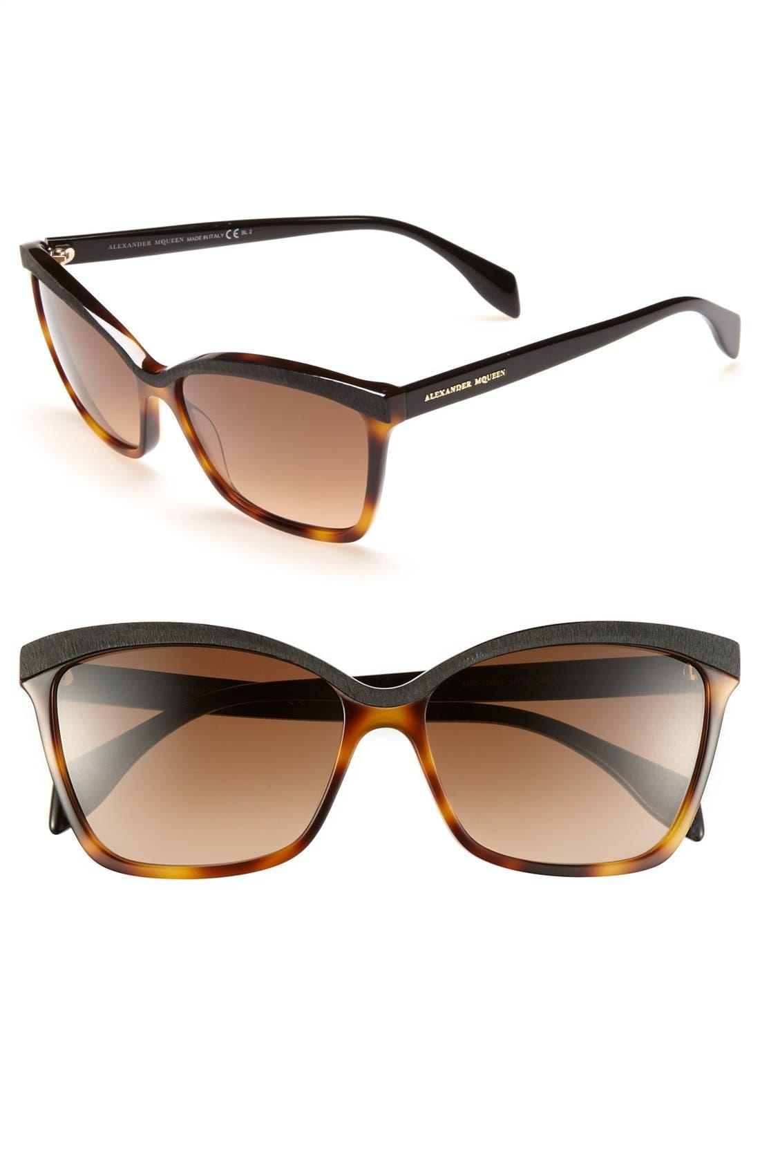 Alternate Image 1 Selected - Alexander McQueen 58mm 'Retro' Sunglasses