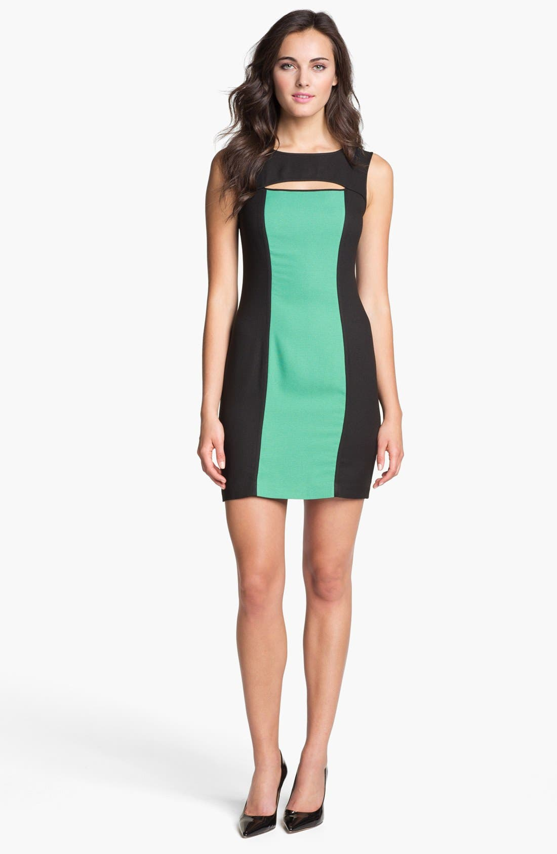 Main Image - Marc New York by Andrew Marc Colorblock Sheath Dress
