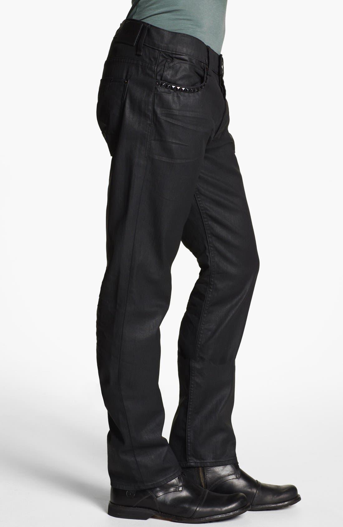 Alternate Image 3  - Hudson Jeans 'Dandy' Slouchy Straight Leg Jeans (Tar)