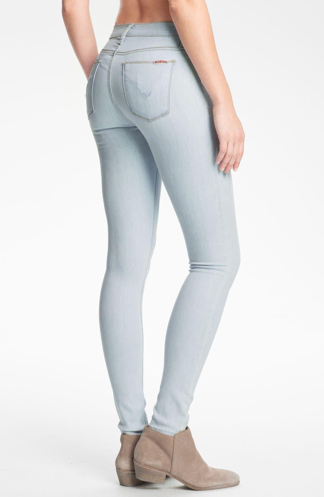 Alternate Image 2  - Hudson Jeans 'Nico' Super Skinny Jeans (Dahlia)