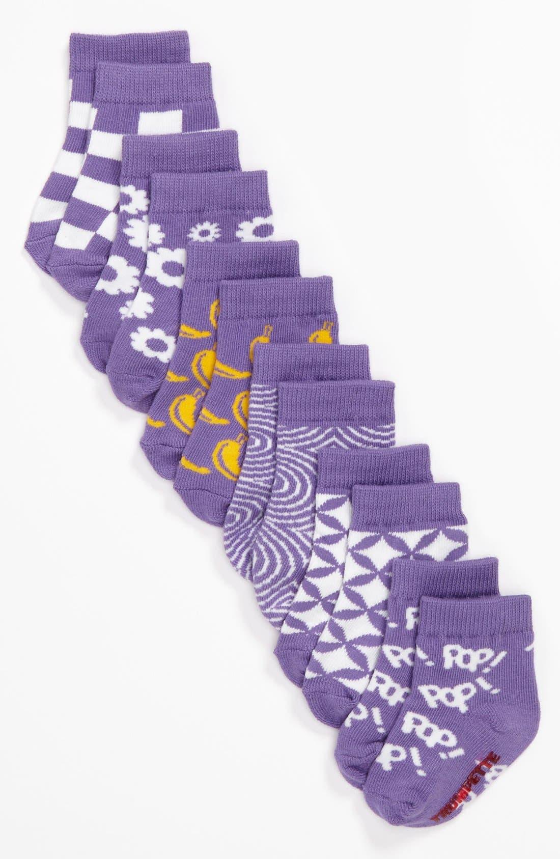 Alternate Image 2  - Trumpette 'Pop Socks in a Tin Can' Sock Set (6-Pack)(Baby Girls)