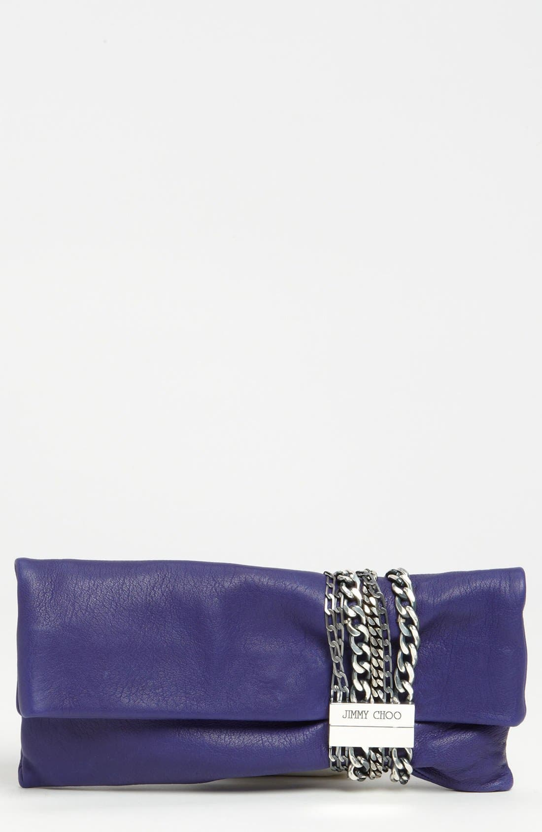 Main Image - Jimmy Choo 'Chandra' Leather Clutch