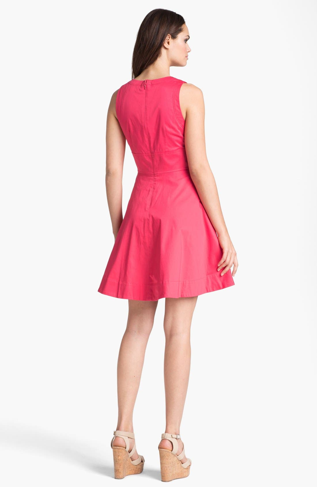 Alternate Image 2  - French Connection Seamed Fit & Flare Dress