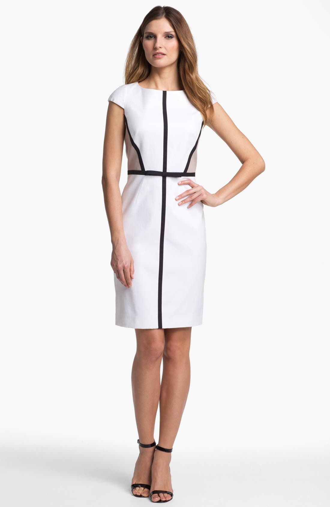 Main Image - Tahari Colorblock Sheath Dress