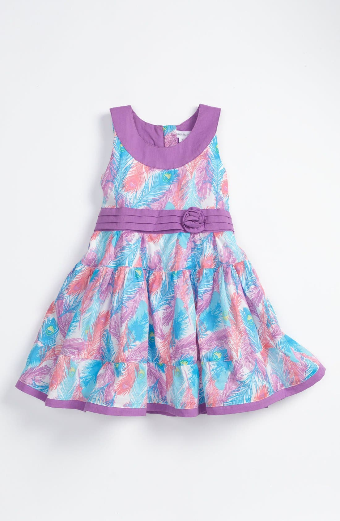 Alternate Image 1 Selected - Pumpkin Patch Feather Print Dress (Toddler)